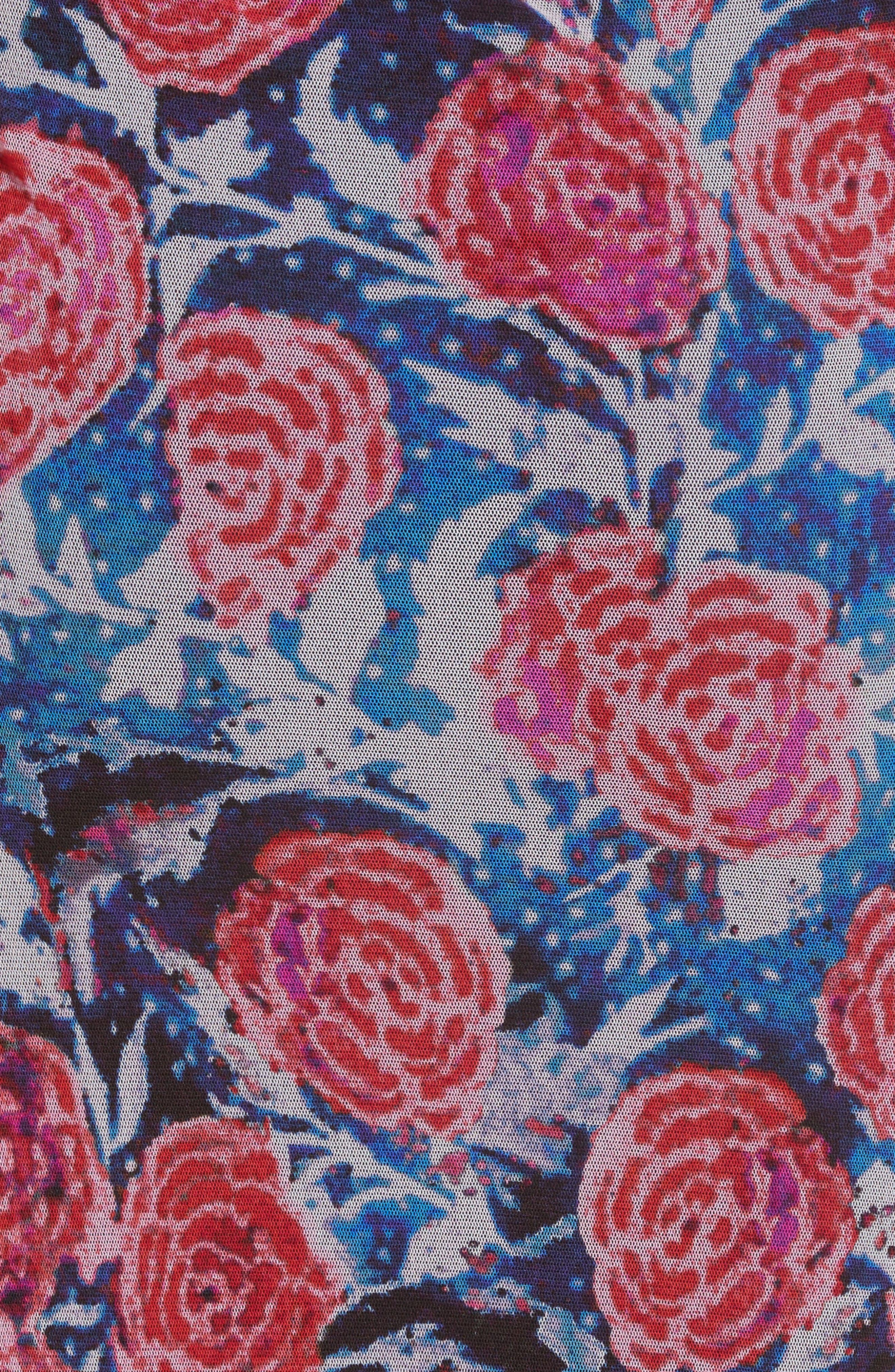 Print Tulle Tank Dress,                             Alternate thumbnail 7, color,                             Copiativc