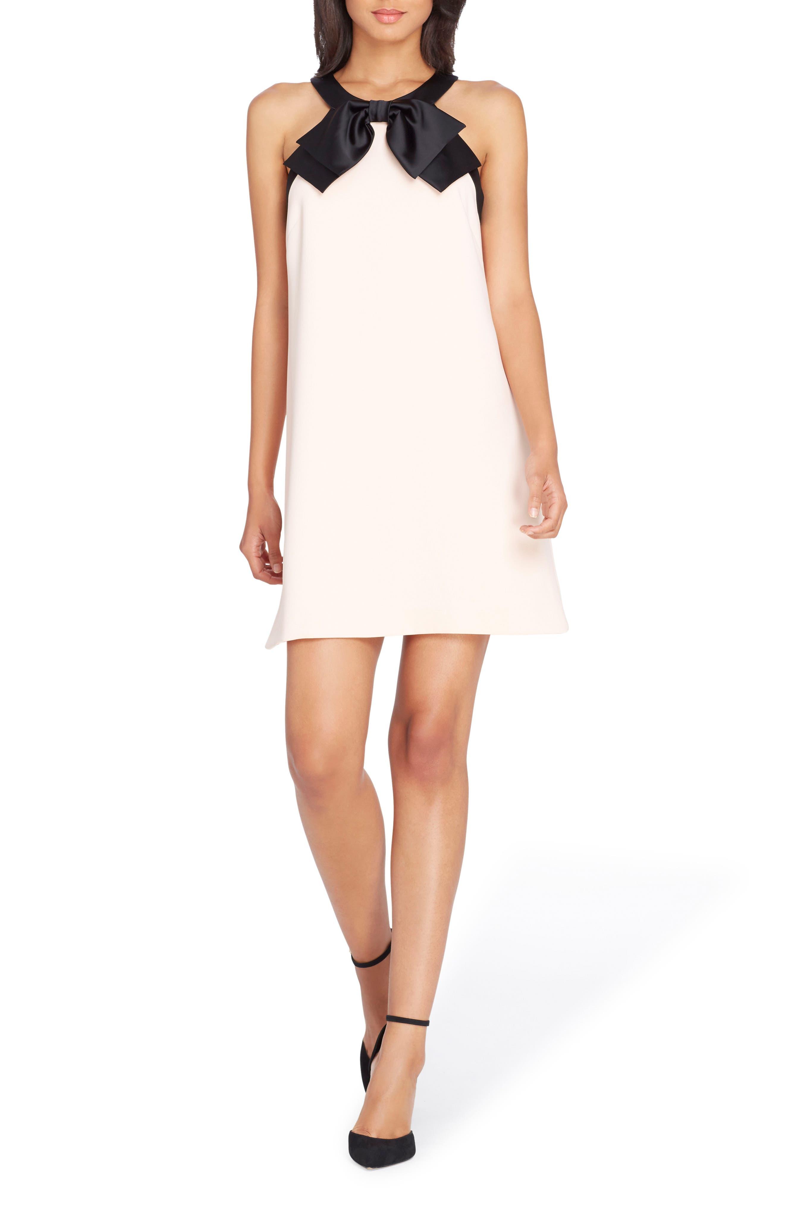 Bow Shift Dress,                         Main,                         color, Blush/ Black