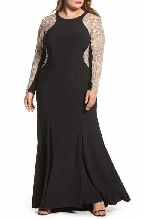 8eec8b42534 Xscape Embellished Jersey Gown (Plus Size)
