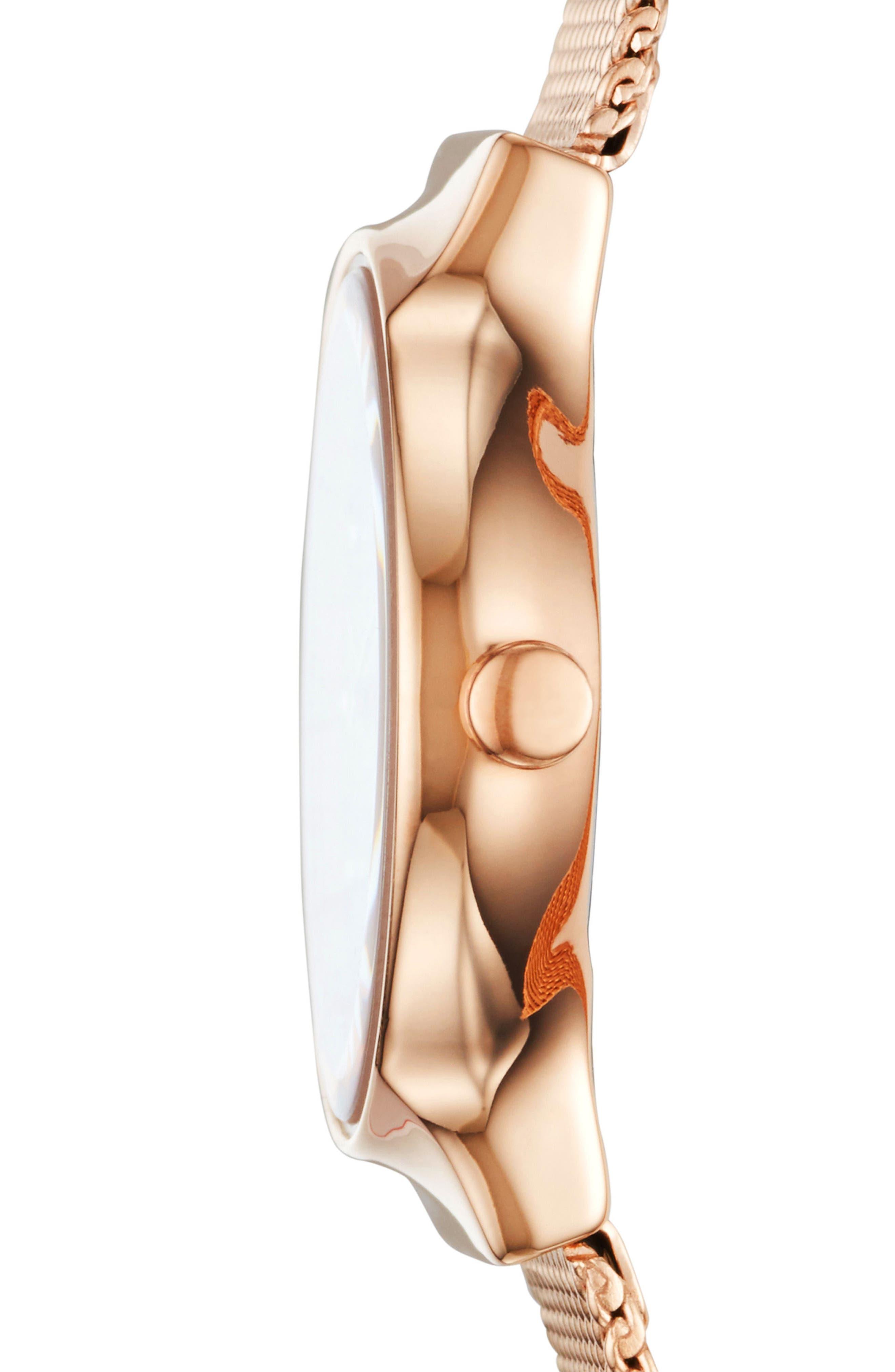 Alternate Image 2  - Skagen Freja Crystal Accent Mesh Strap Watch, 26mm
