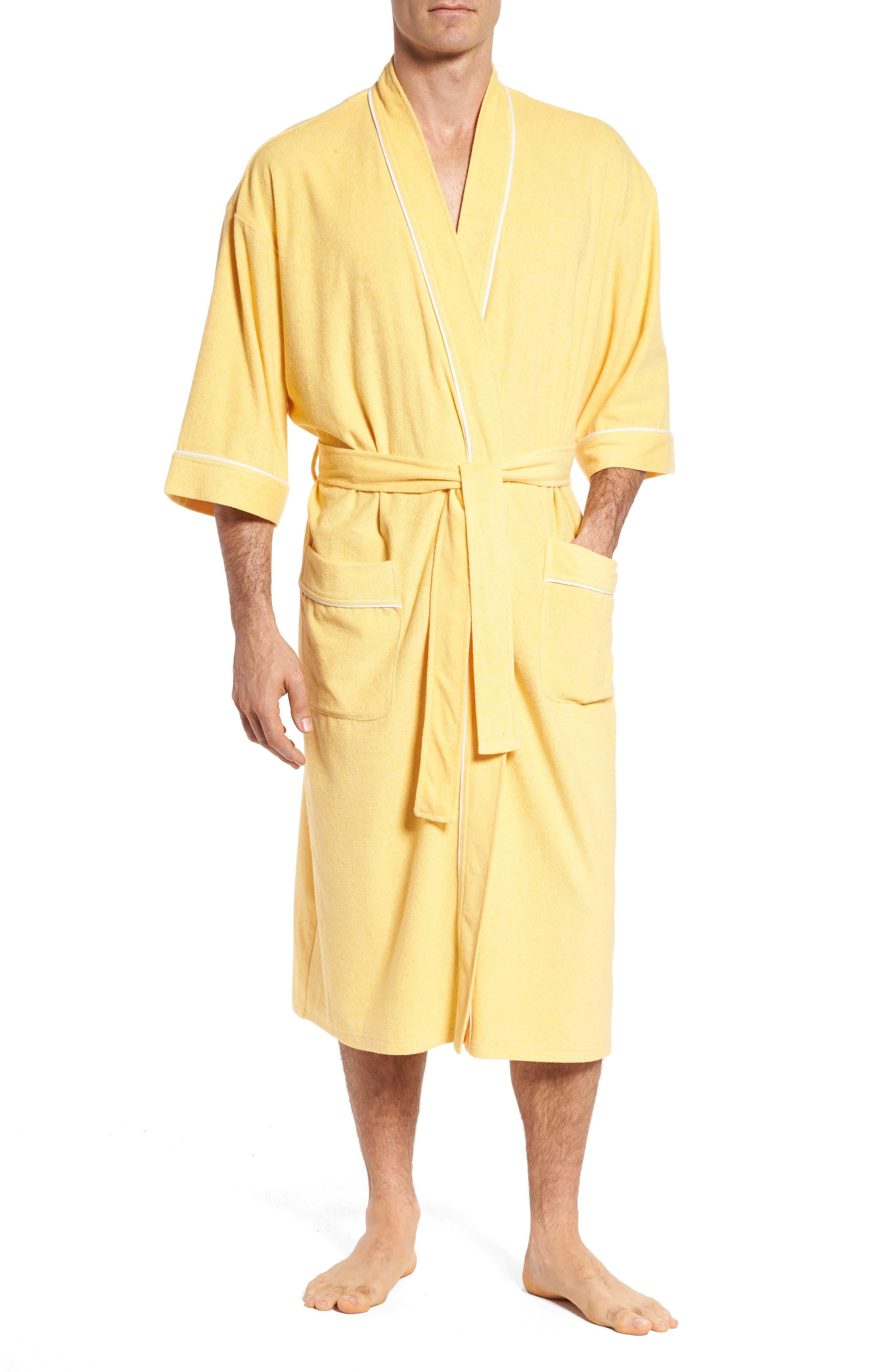 Kimono Cotton Blend Robe,                             Main thumbnail 1, color,                             Shine