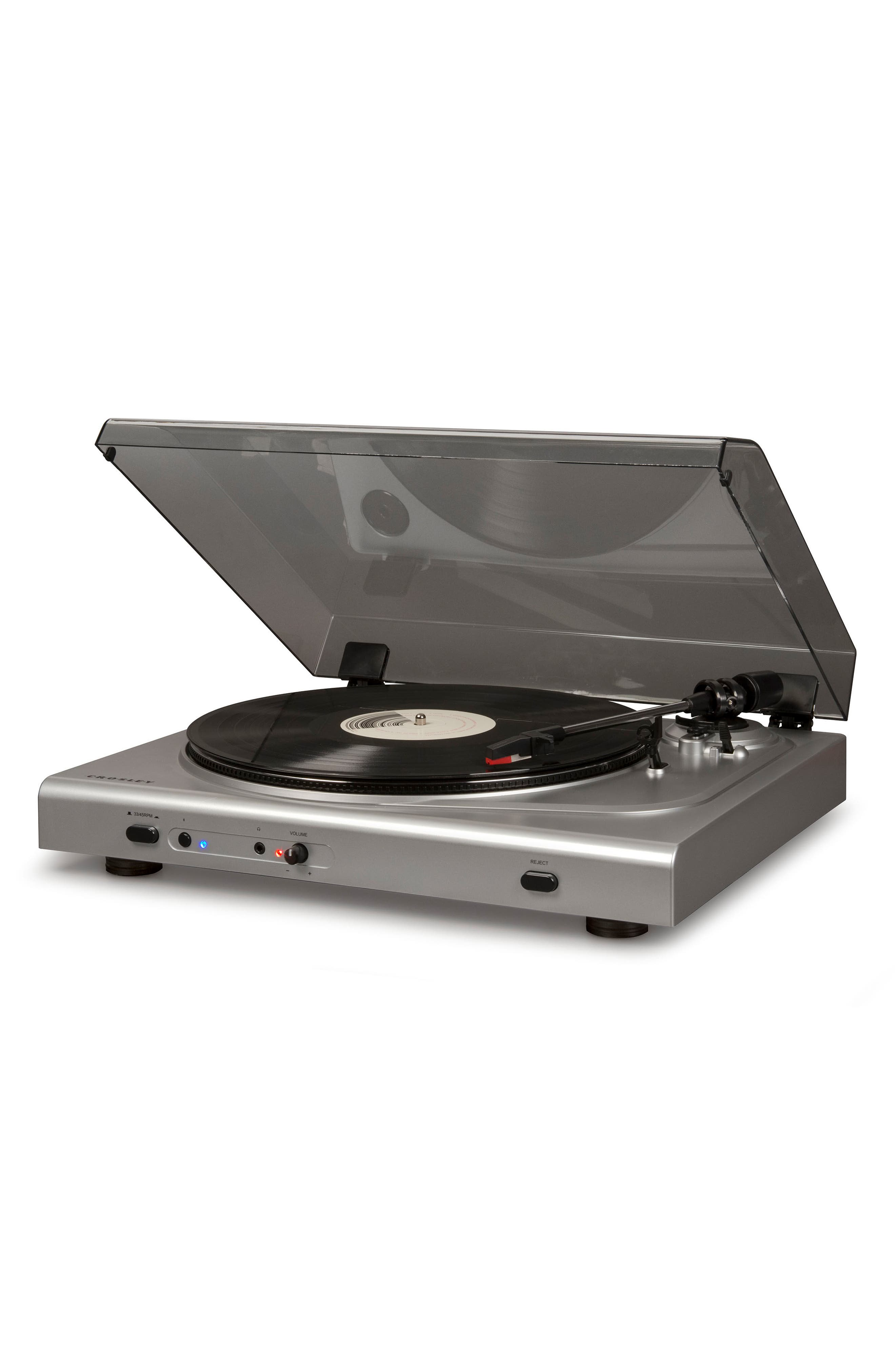 T300A Bluetooth Turntable,                             Alternate thumbnail 2, color,                             Silver