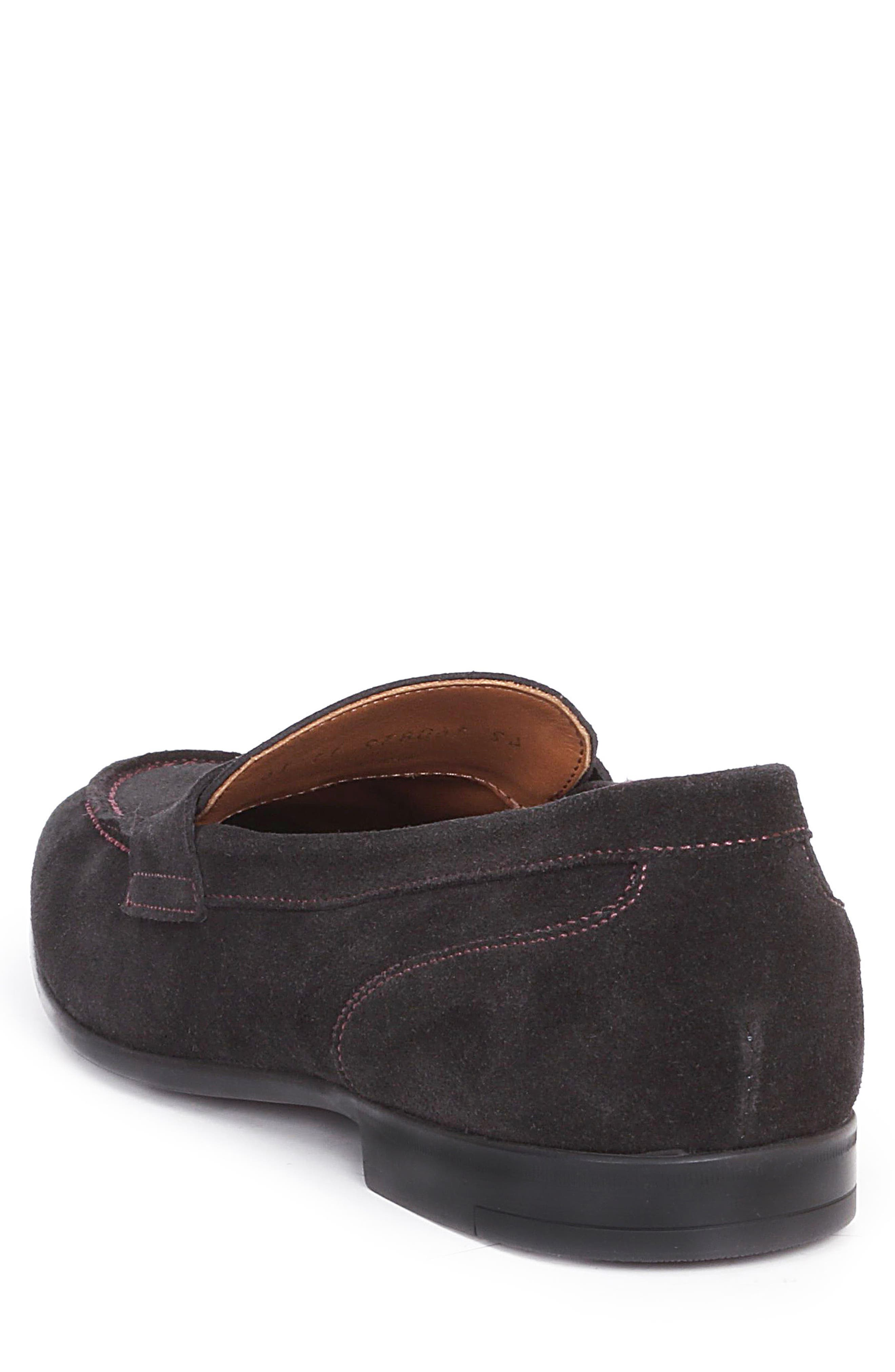 Silas Penny Loafer,                             Alternate thumbnail 3, color,                             Navy