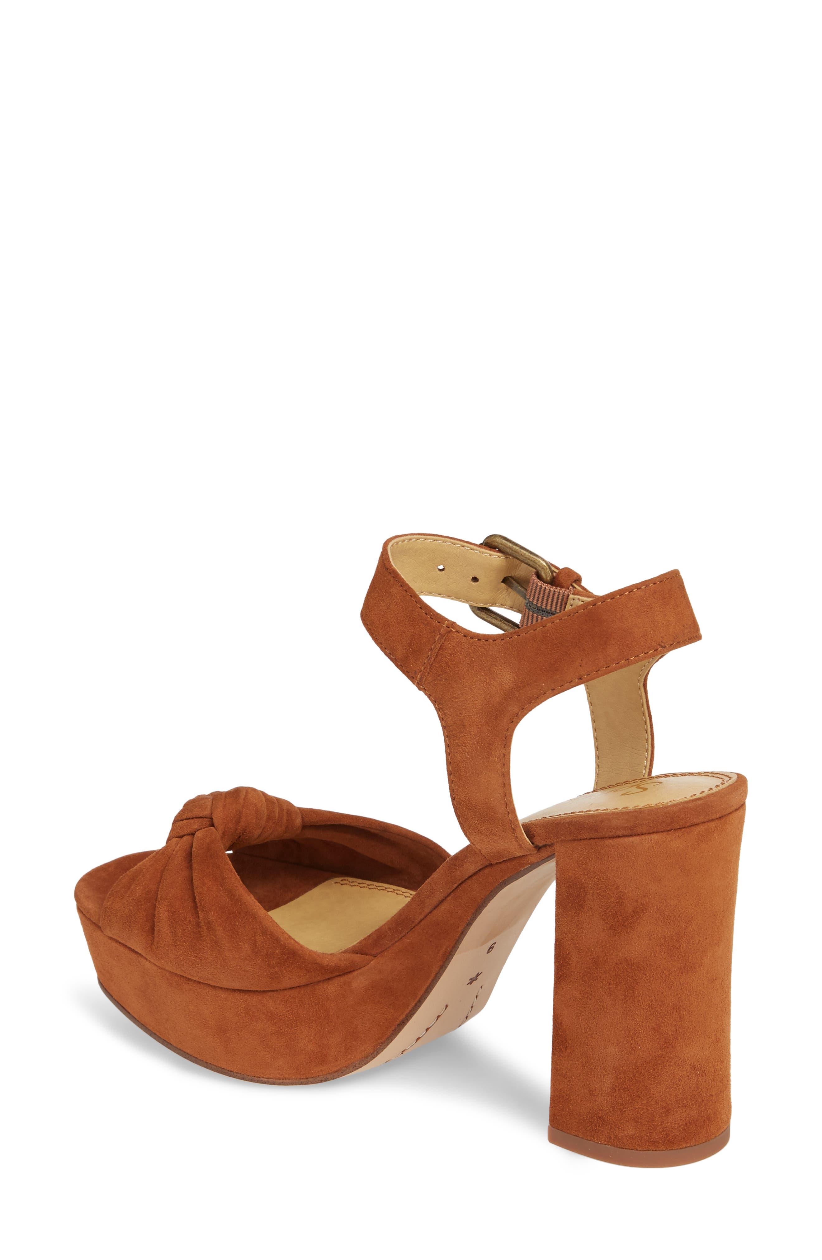 Bates Platform Sandal,                             Alternate thumbnail 2, color,                             Caramel Suede