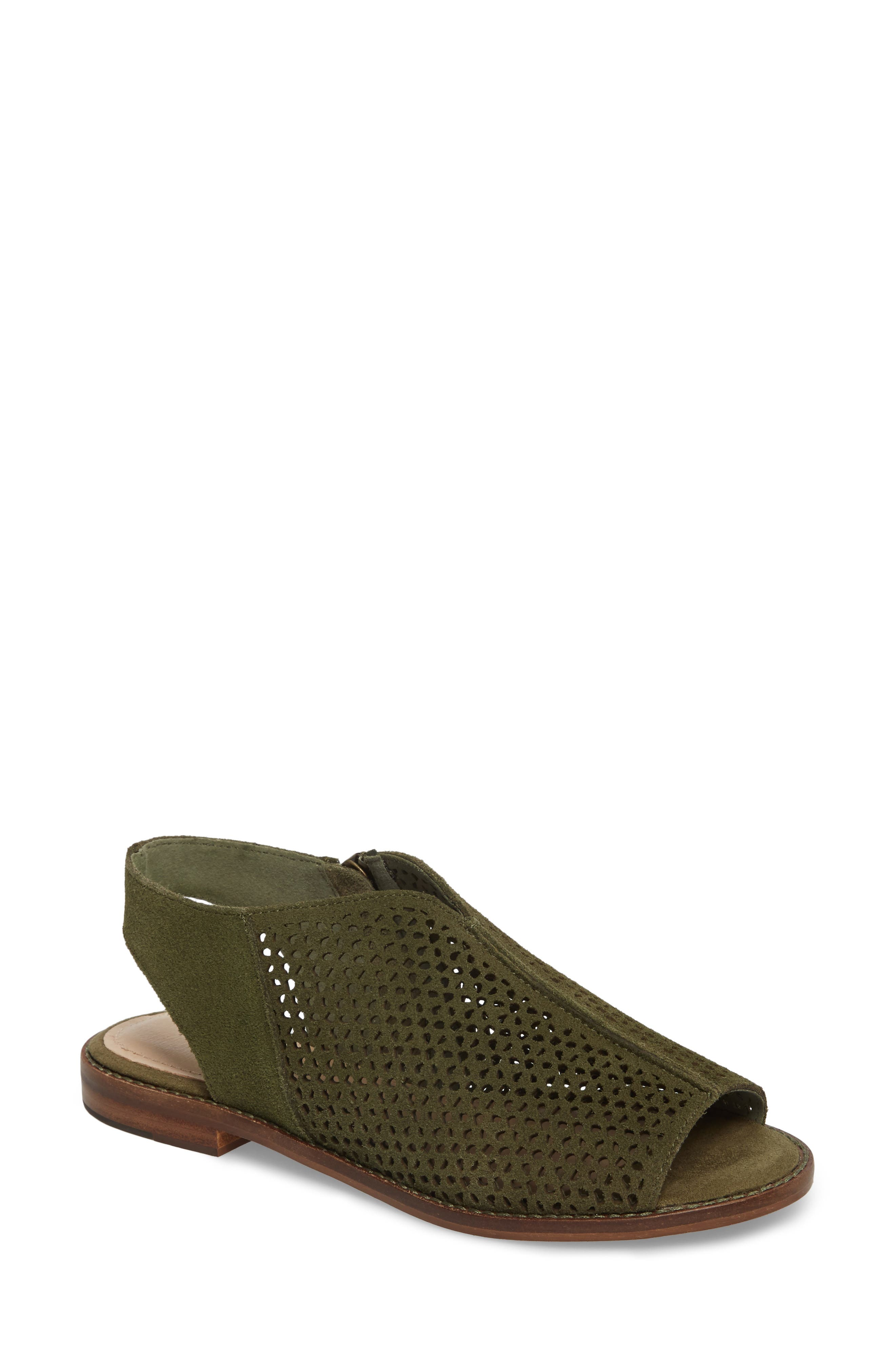 Seneca Perforated Sandal,                         Main,                         color, Olive