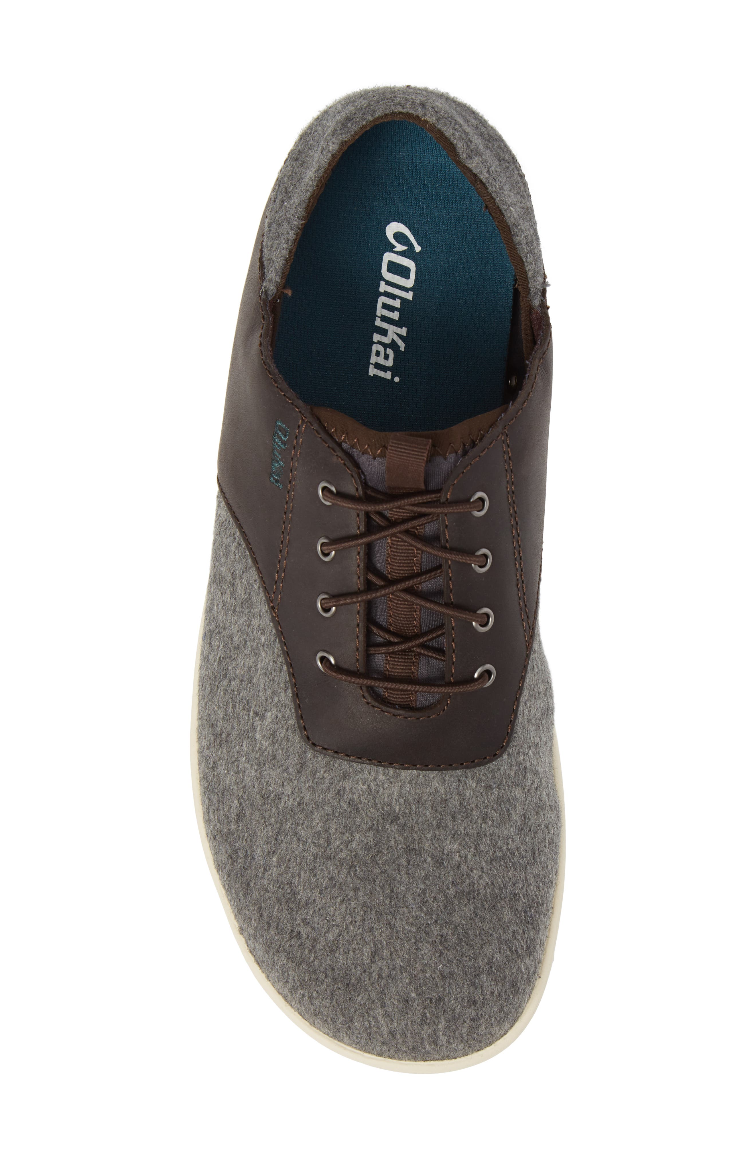 Nohea Moku Hulu Sneaker,                             Alternate thumbnail 5, color,                             Dark Roast/ Charcoal Wool