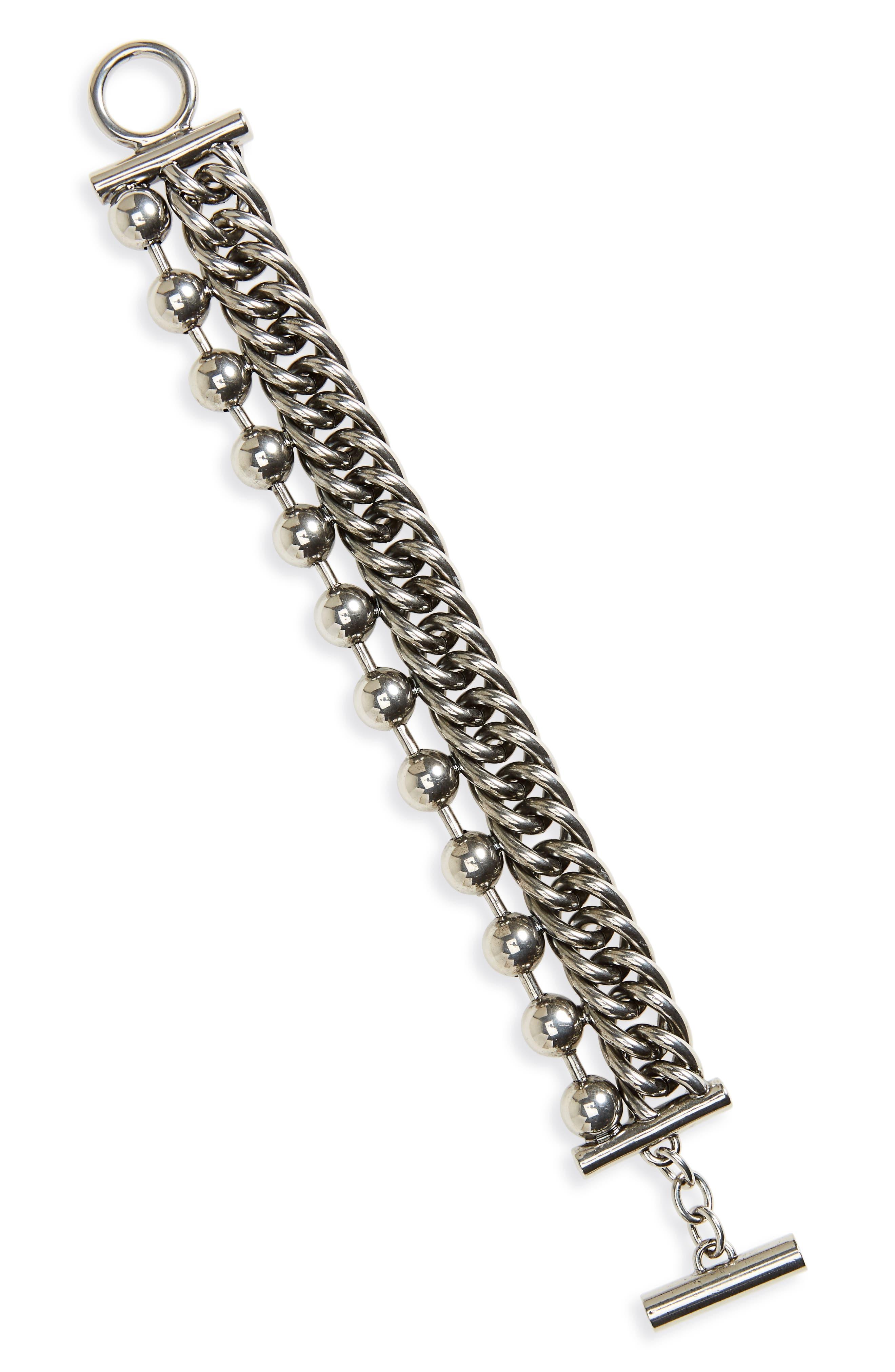 Alexander Wang Ball & Chain Stacked Bracelet