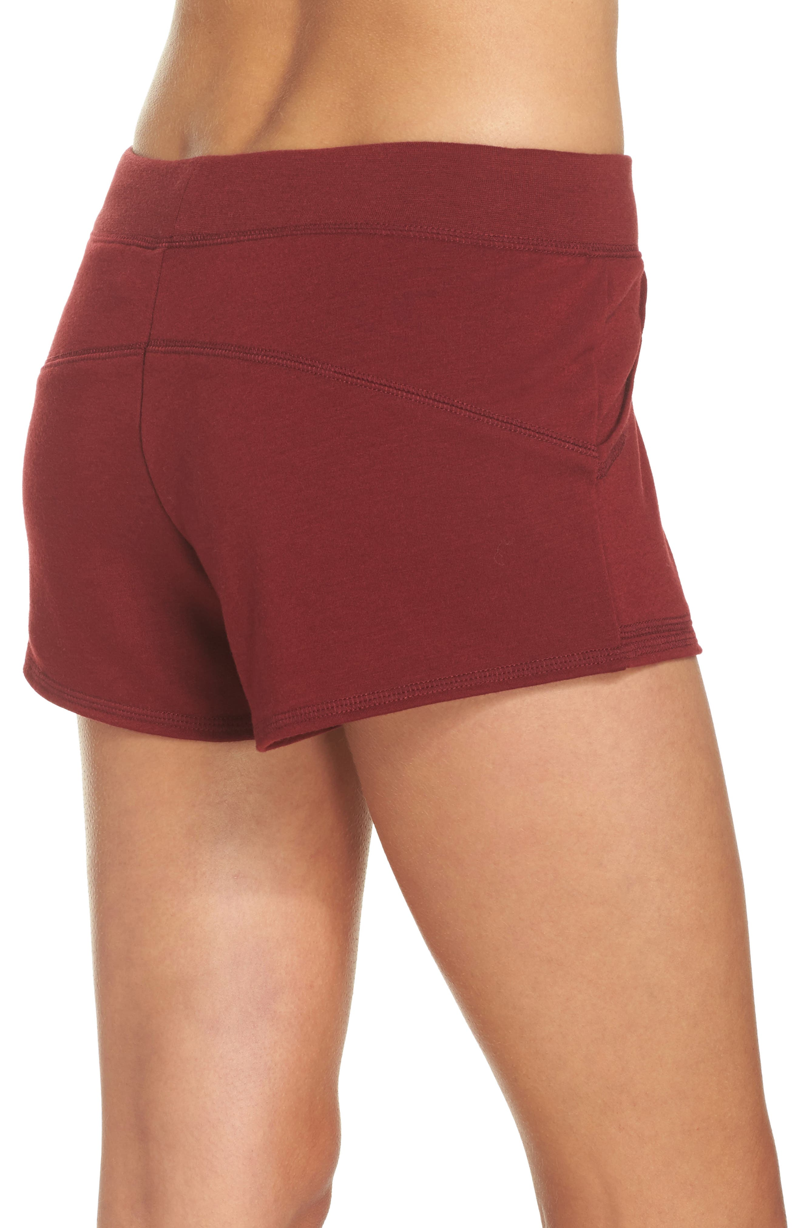 Down To The Details Lounge Shorts,                             Alternate thumbnail 2, color,                             Red Grape