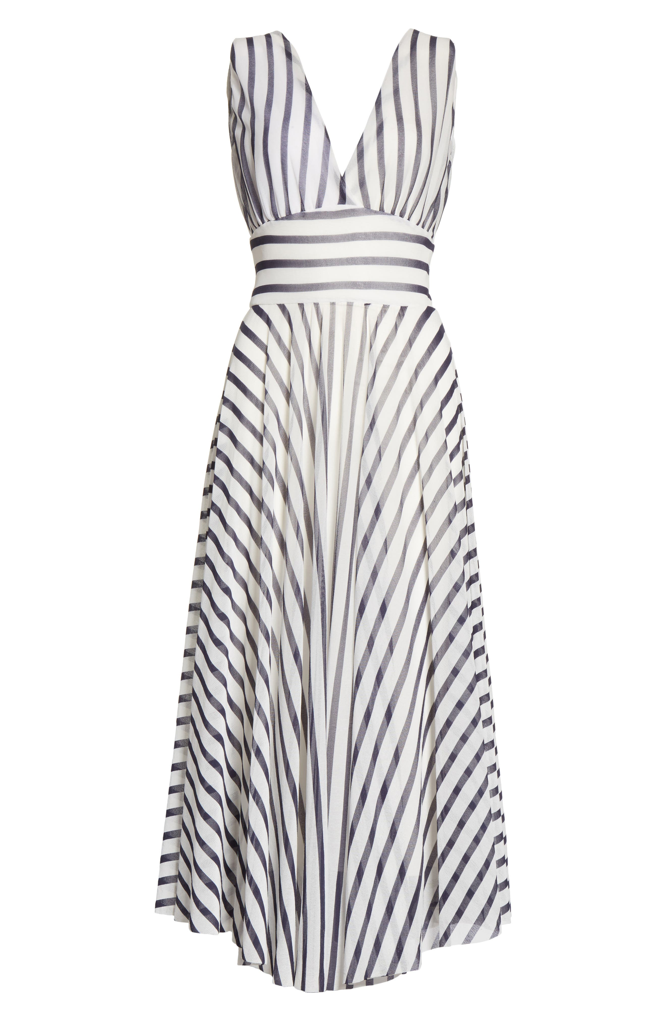 Multistripe Midi Dress,                             Alternate thumbnail 7, color,                             Cocco