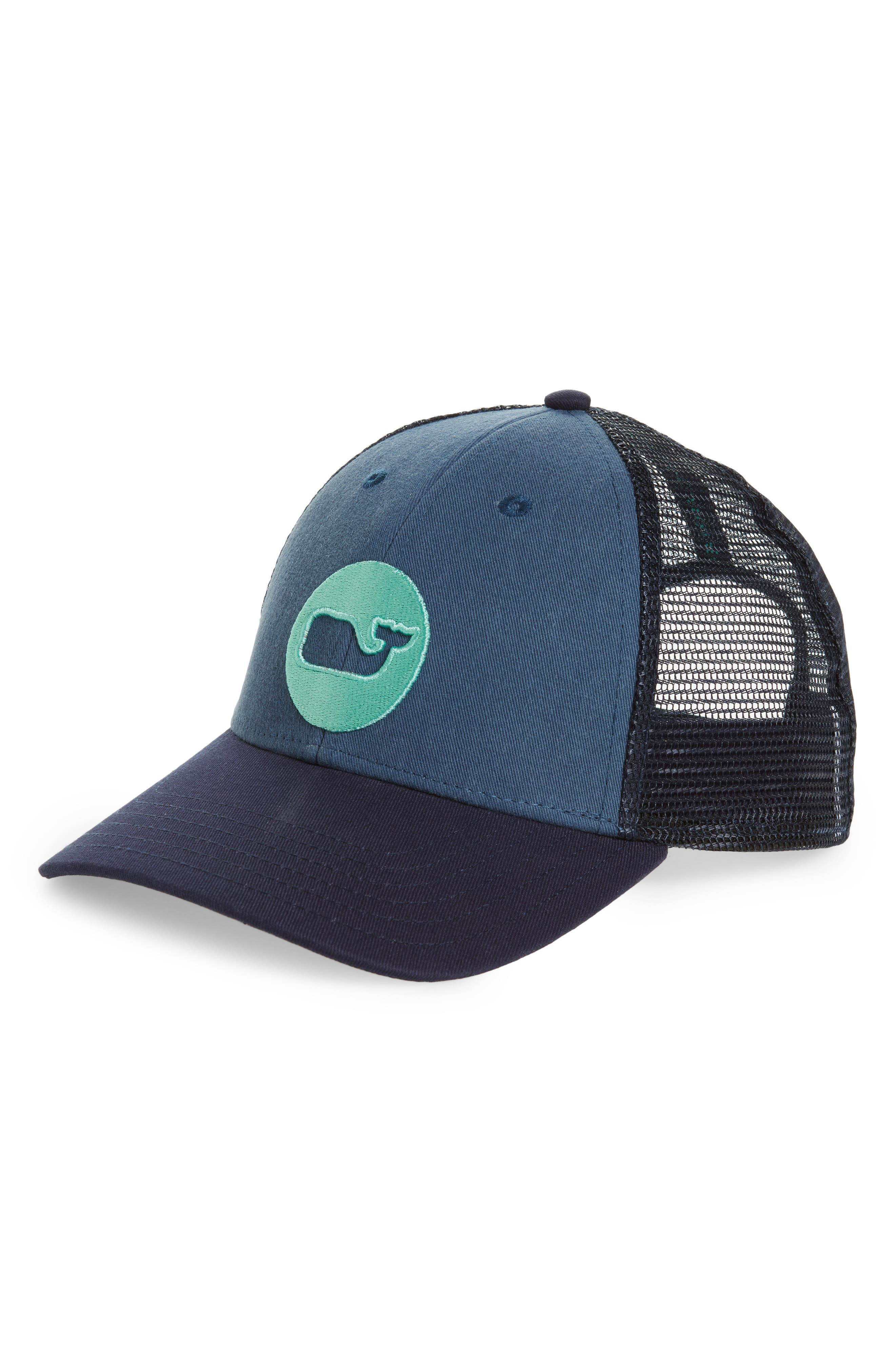 Whale Dot Trucker Cap,                             Main thumbnail 1, color,                             Moonshine