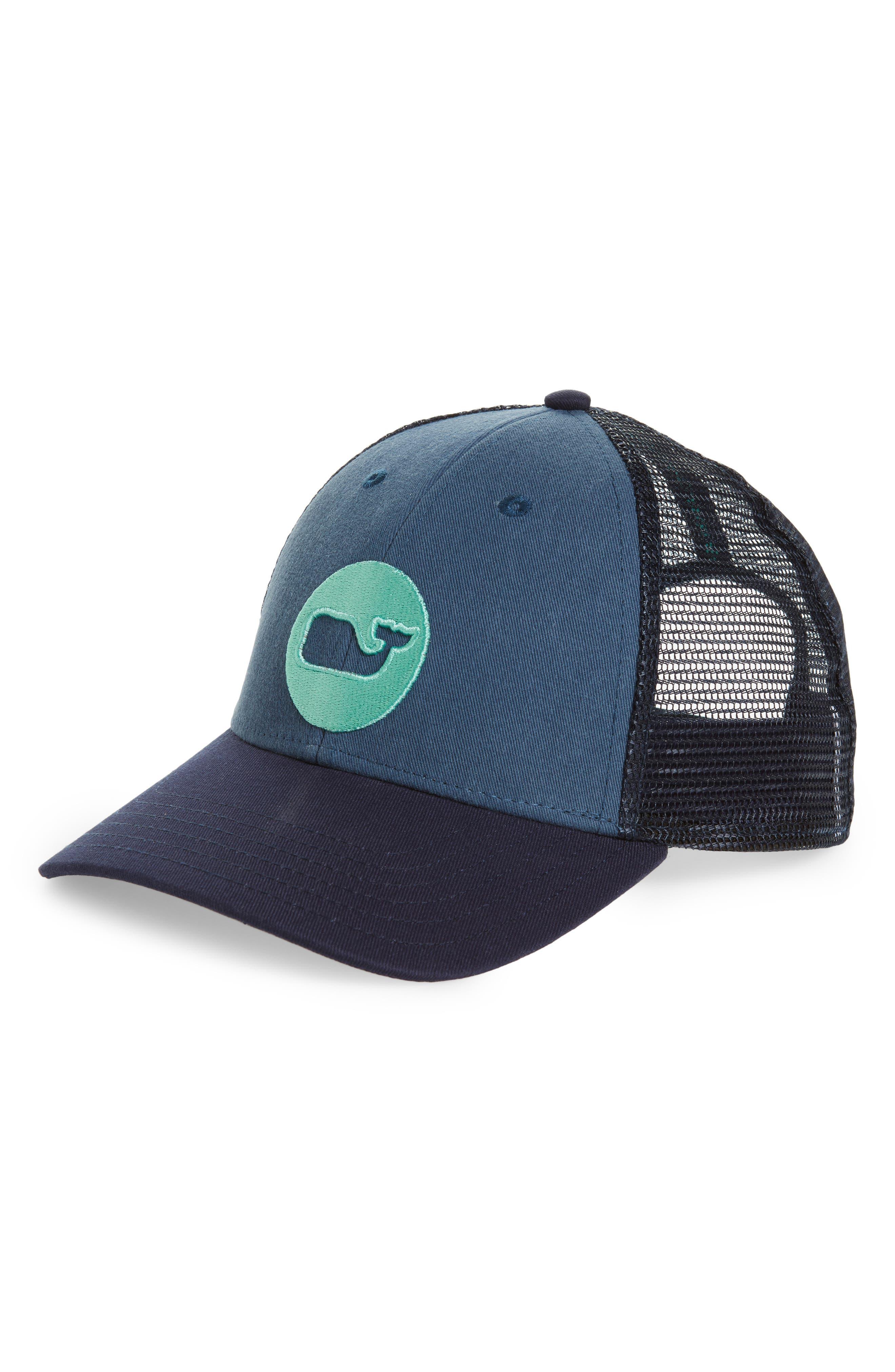 Whale Dot Trucker Cap,                         Main,                         color, Moonshine