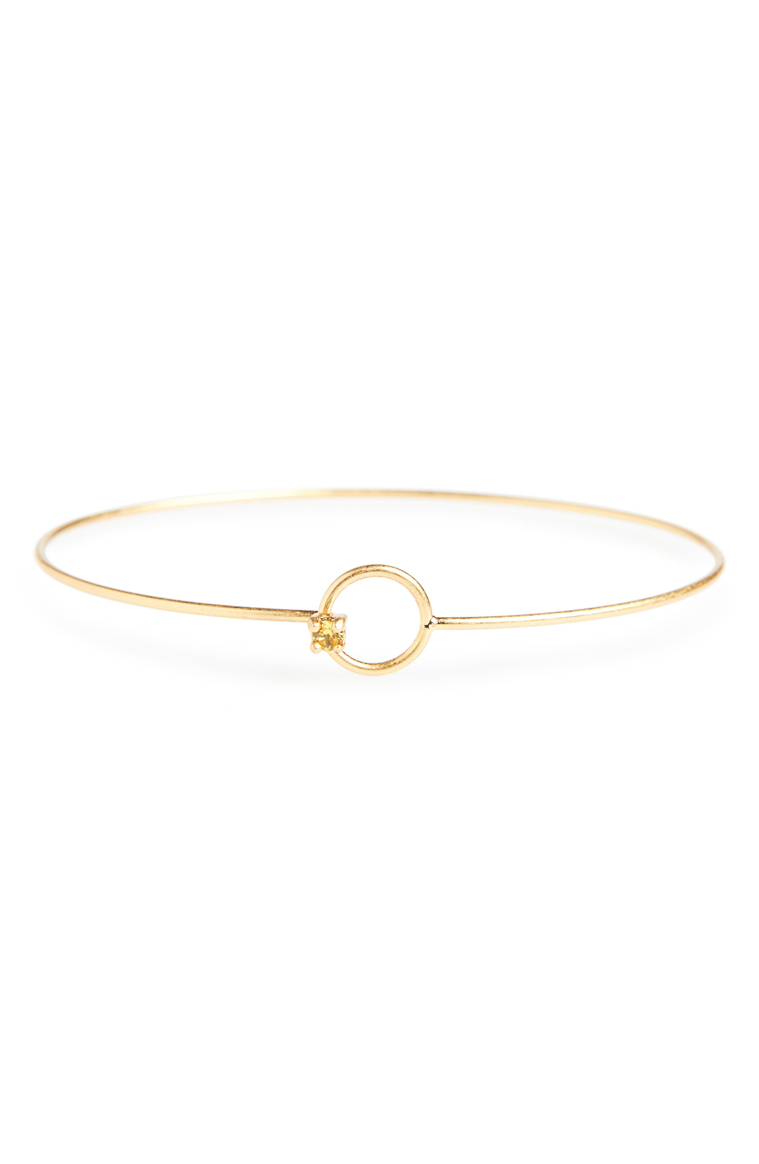 Main Image - Madewell Delicate Gem Bangle