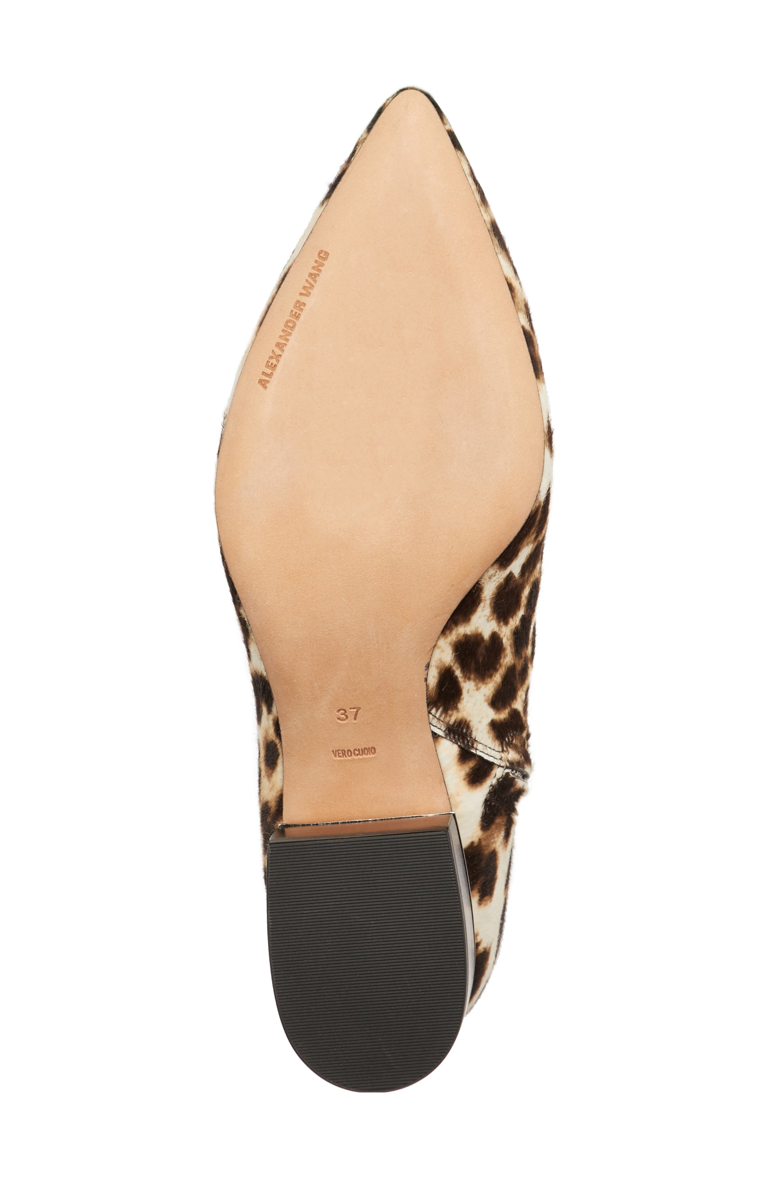 Jude Genuine Calf Hair Bootie,                             Alternate thumbnail 6, color,                             Leopard Print