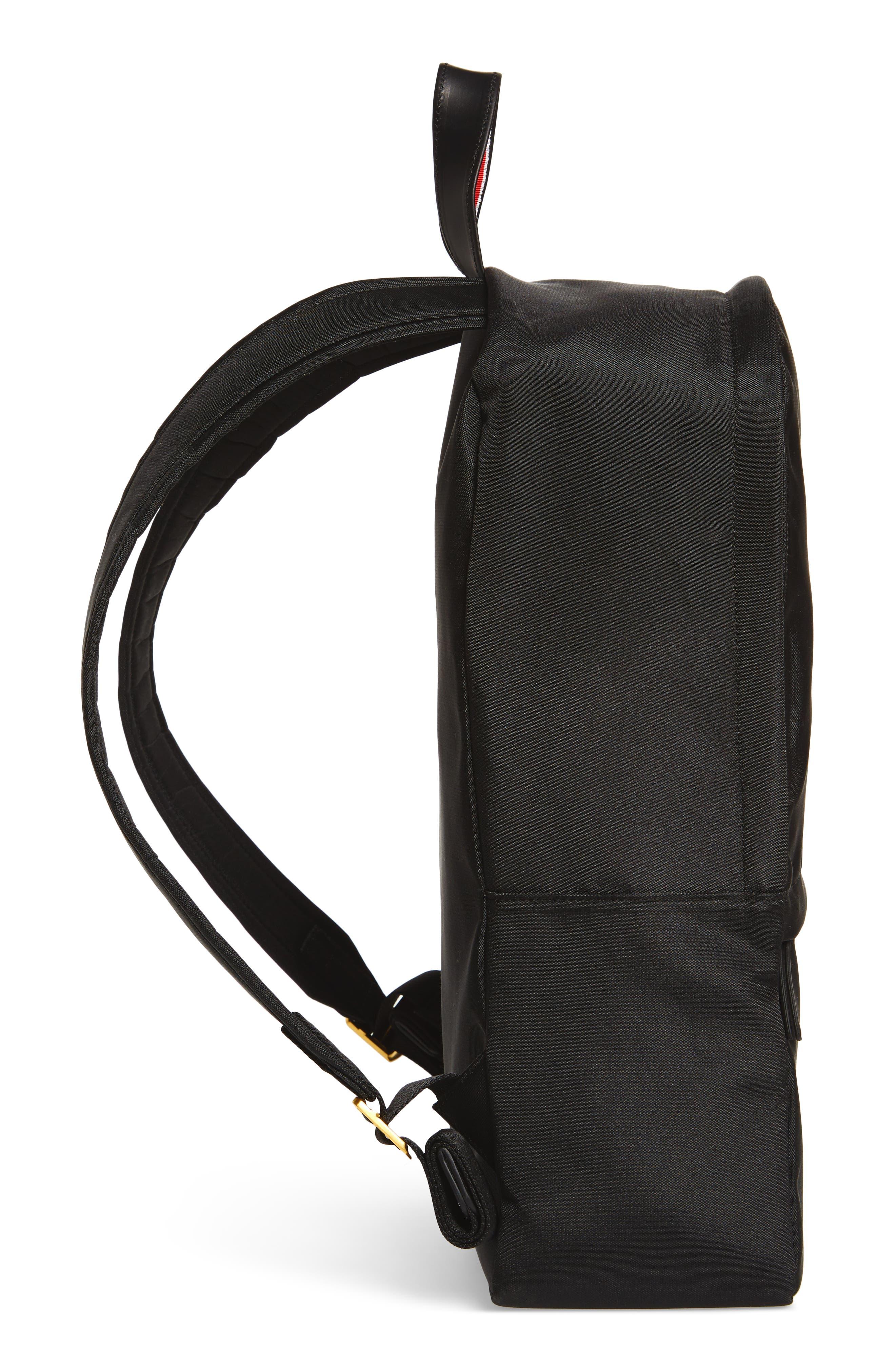 Nylon Backpack,                             Alternate thumbnail 5, color,                             Black