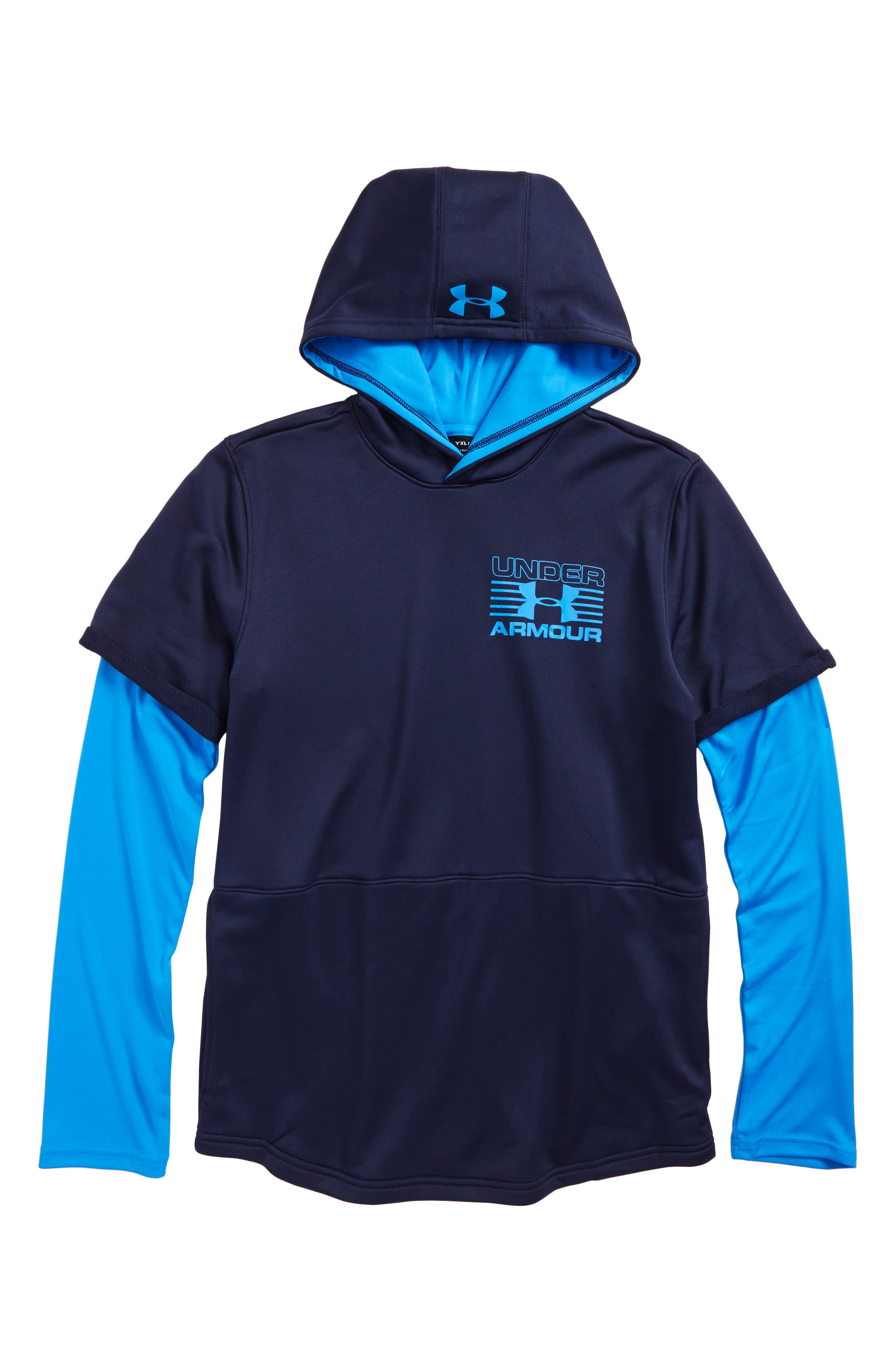 Alternate Image 1 Selected - Under Armour Train to Game Layered ColdGear® Hoodie (Little Boys & Big Boys)