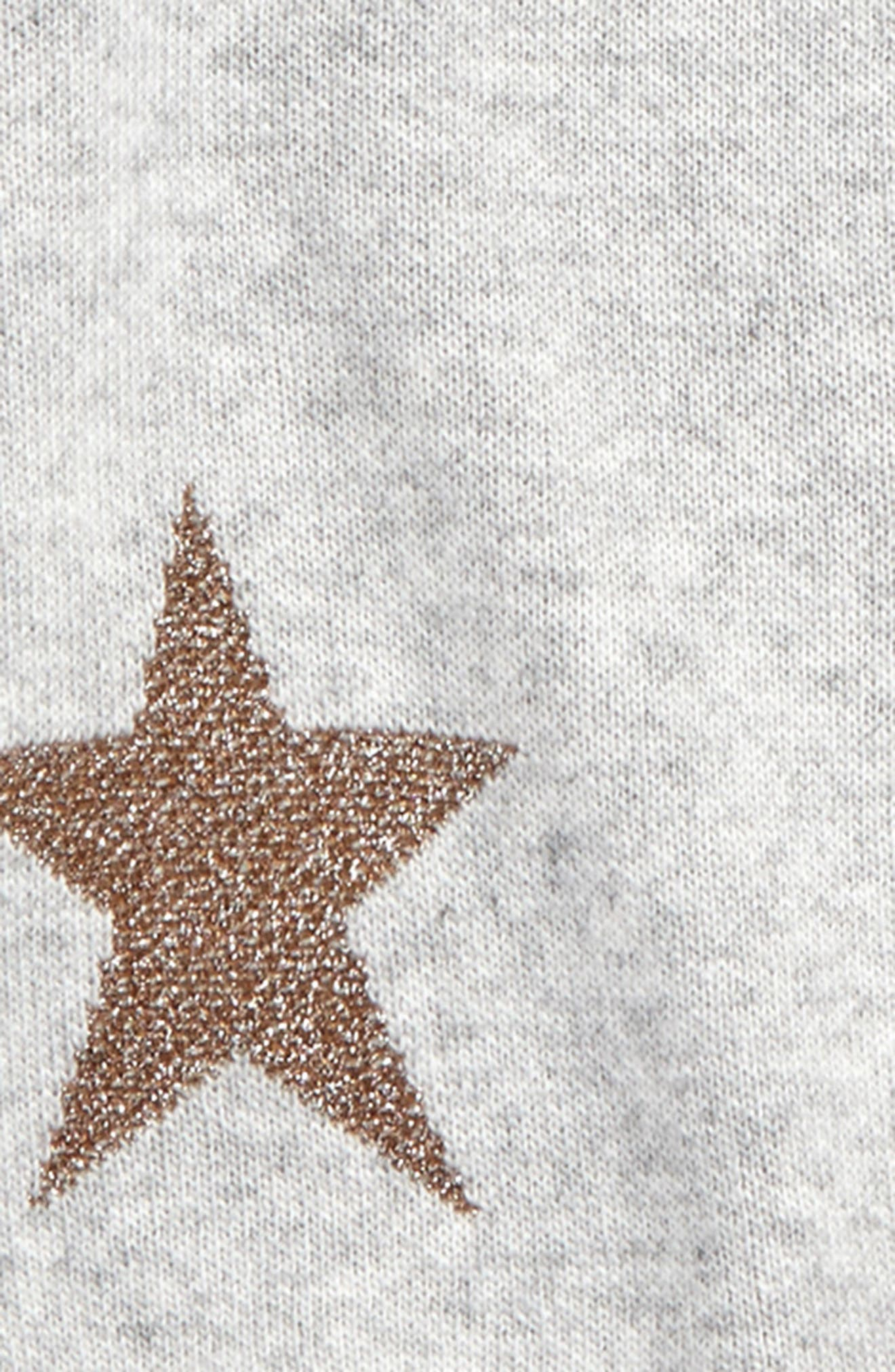 Star Sweater,                             Alternate thumbnail 2, color,                             Ivory/ Gold Stars