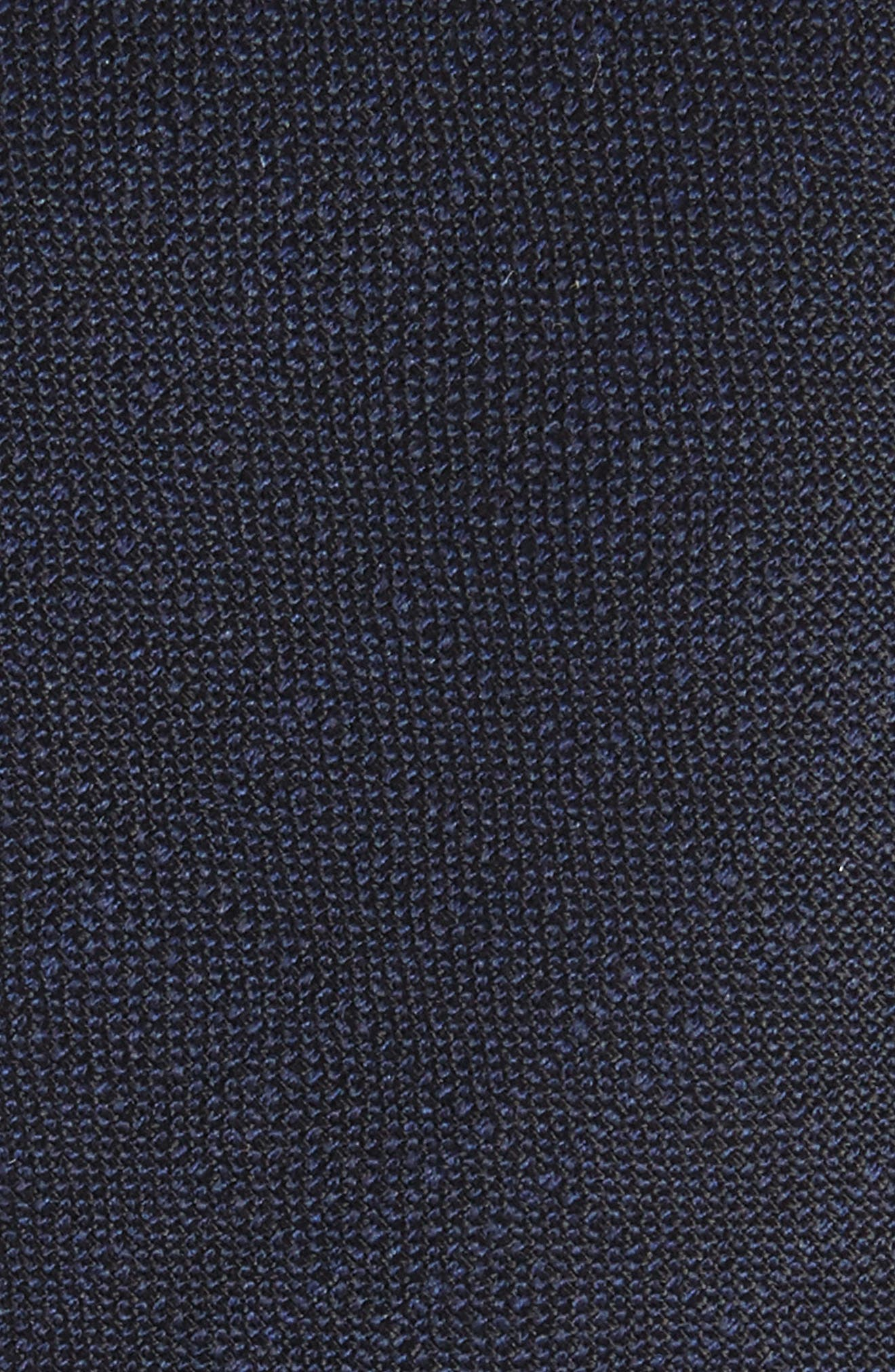 Jaspé Wool Skinny Tie,                             Alternate thumbnail 2, color,                             Navy