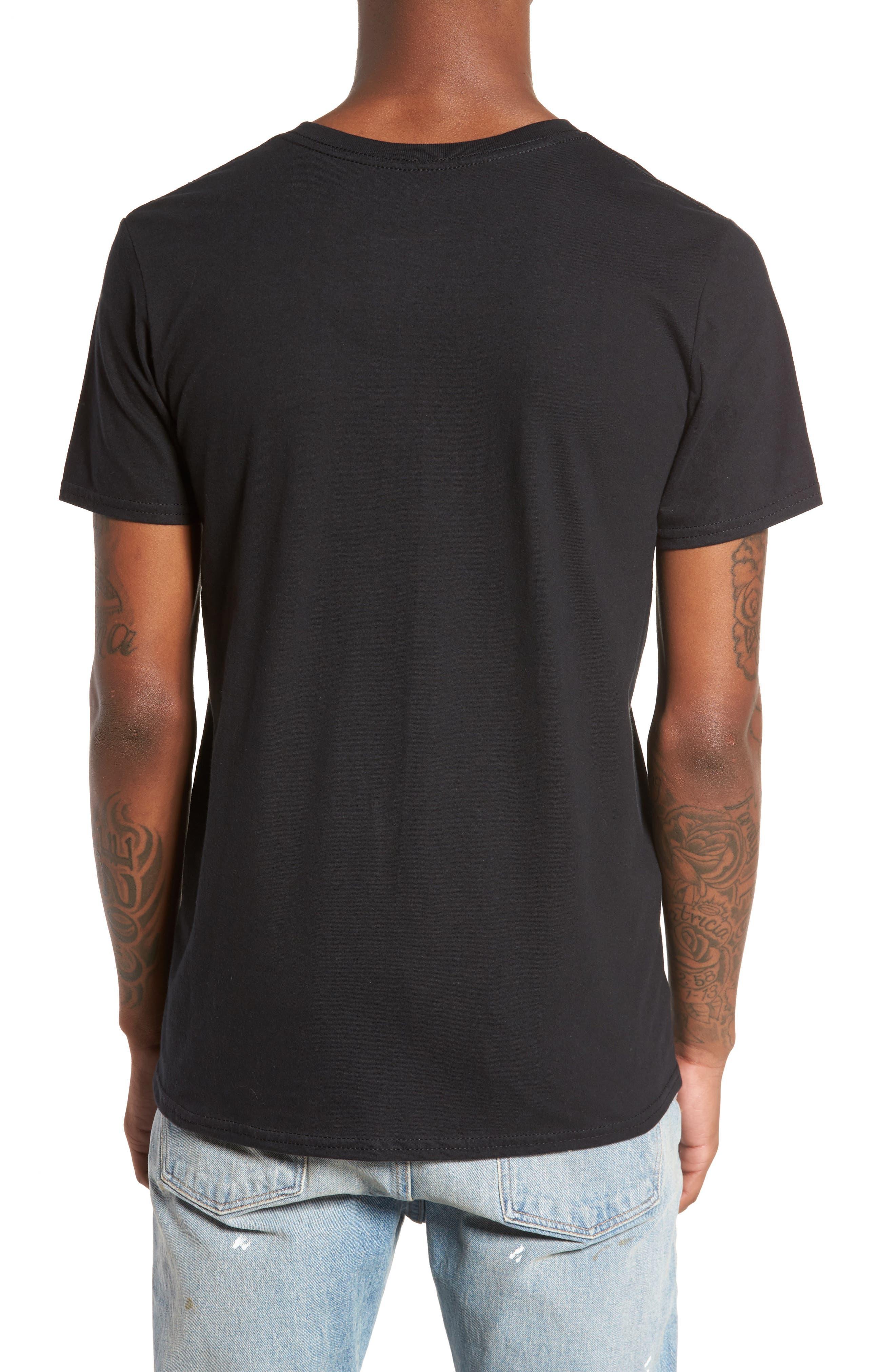 Tis The Season Embroidered T-Shirt,                             Alternate thumbnail 2, color,                             Black Tis The Season