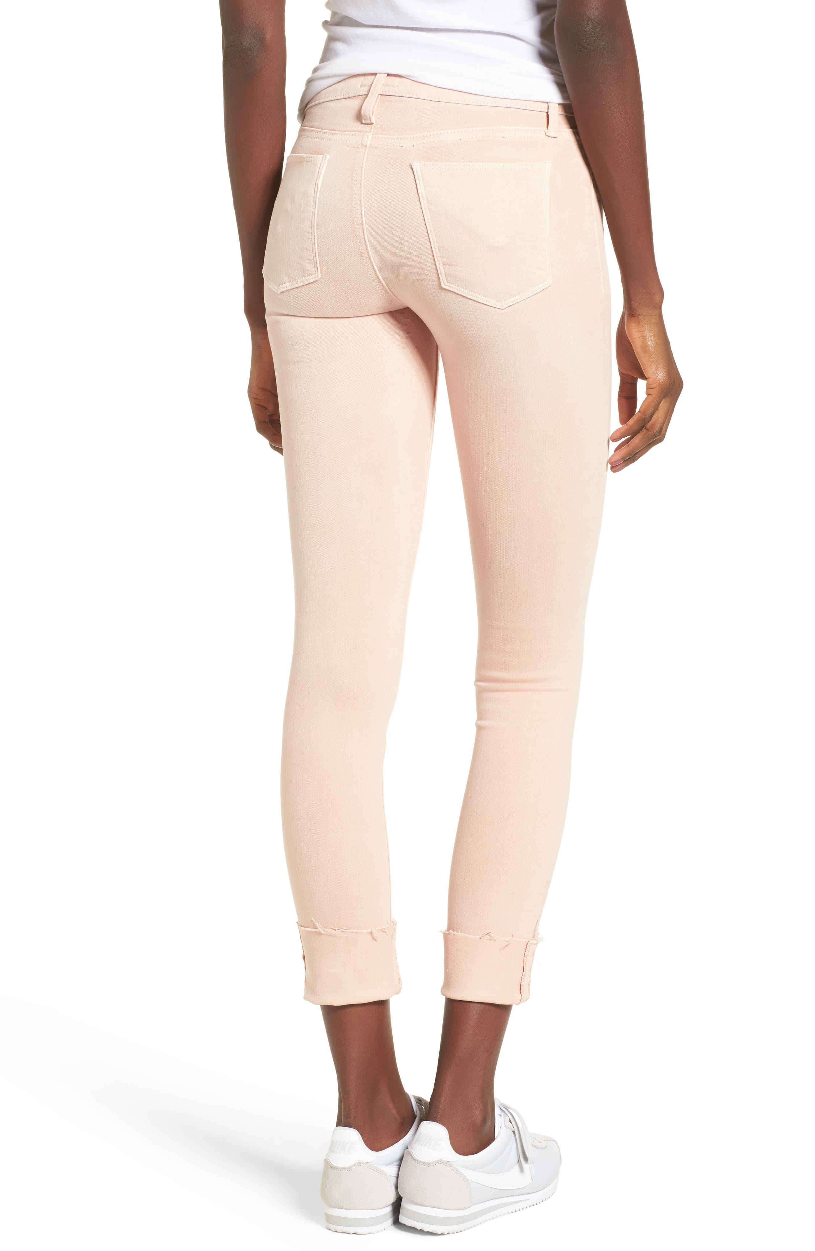 Tally Crop Skinny Jeans,                             Alternate thumbnail 2, color,                             Worn Rosewater