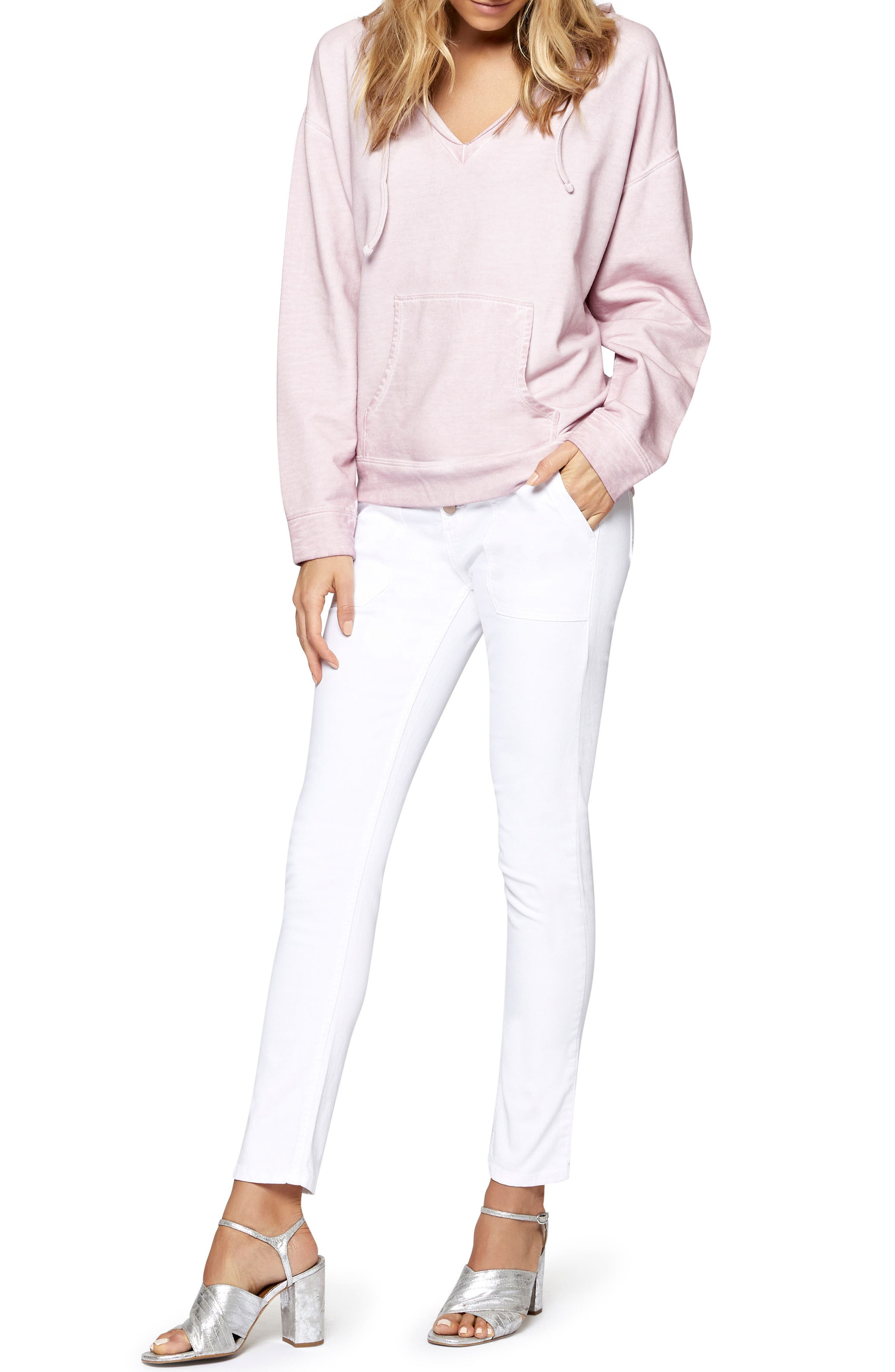 Exposed Peace Straight Pants,                             Alternate thumbnail 3, color,                             White