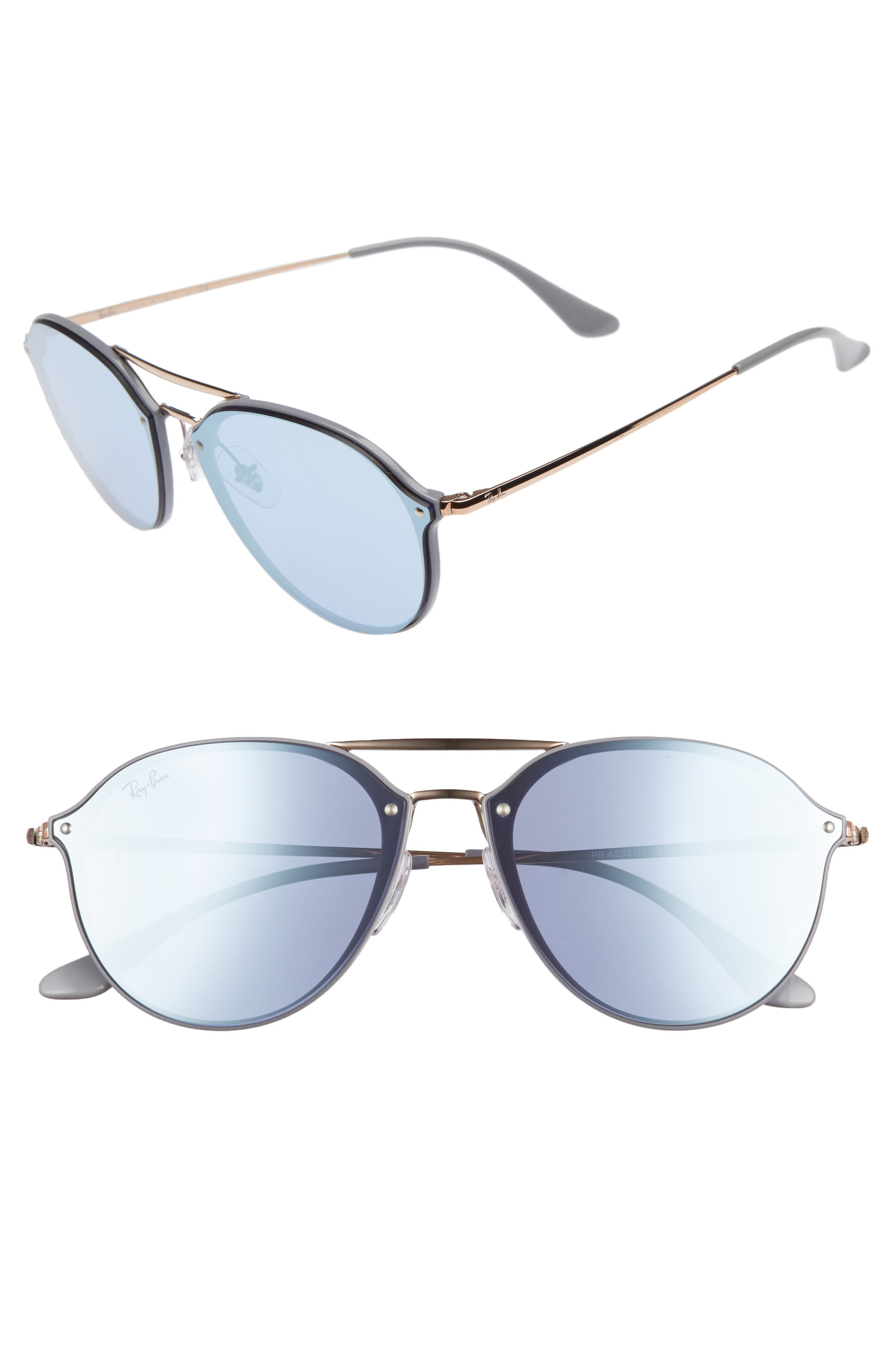 Ray-Ban 62mm Mirrored Lens Aviator Sunglasses