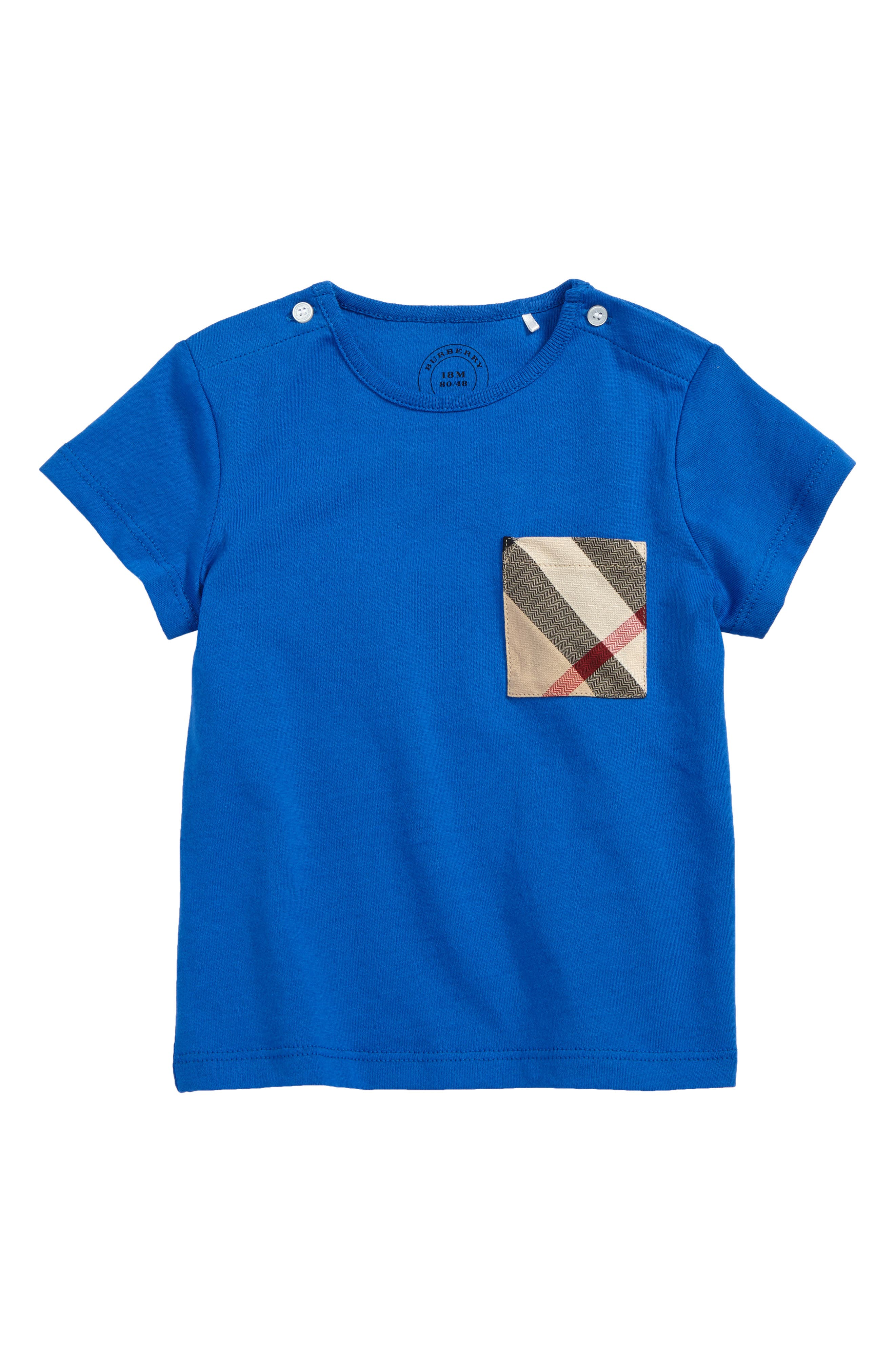 Burberry Check Pocket T-Shirt (Baby Boys & Toddler Boys)