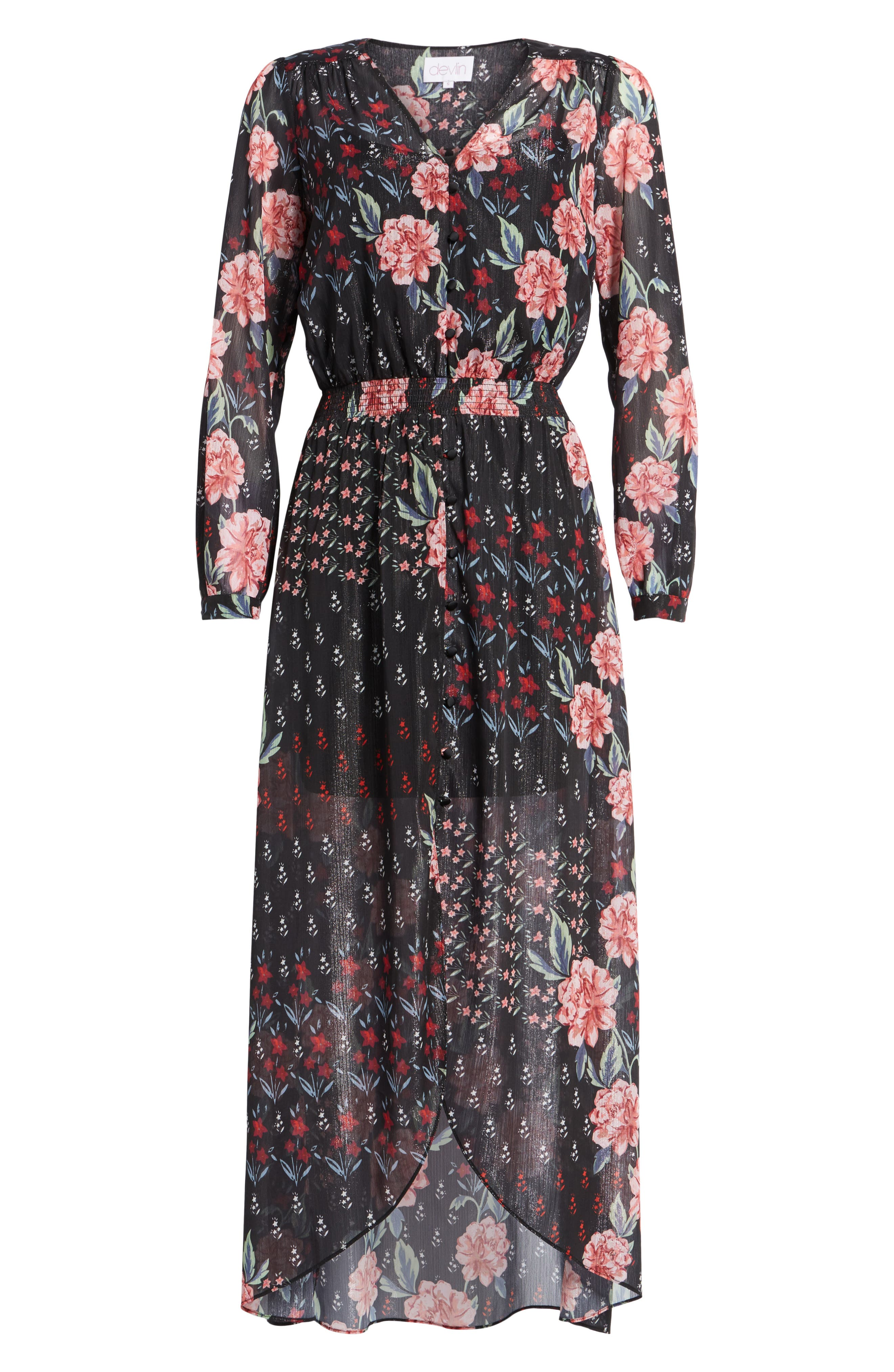 Alternate Image 6  - devlin Abby Maxi Dress