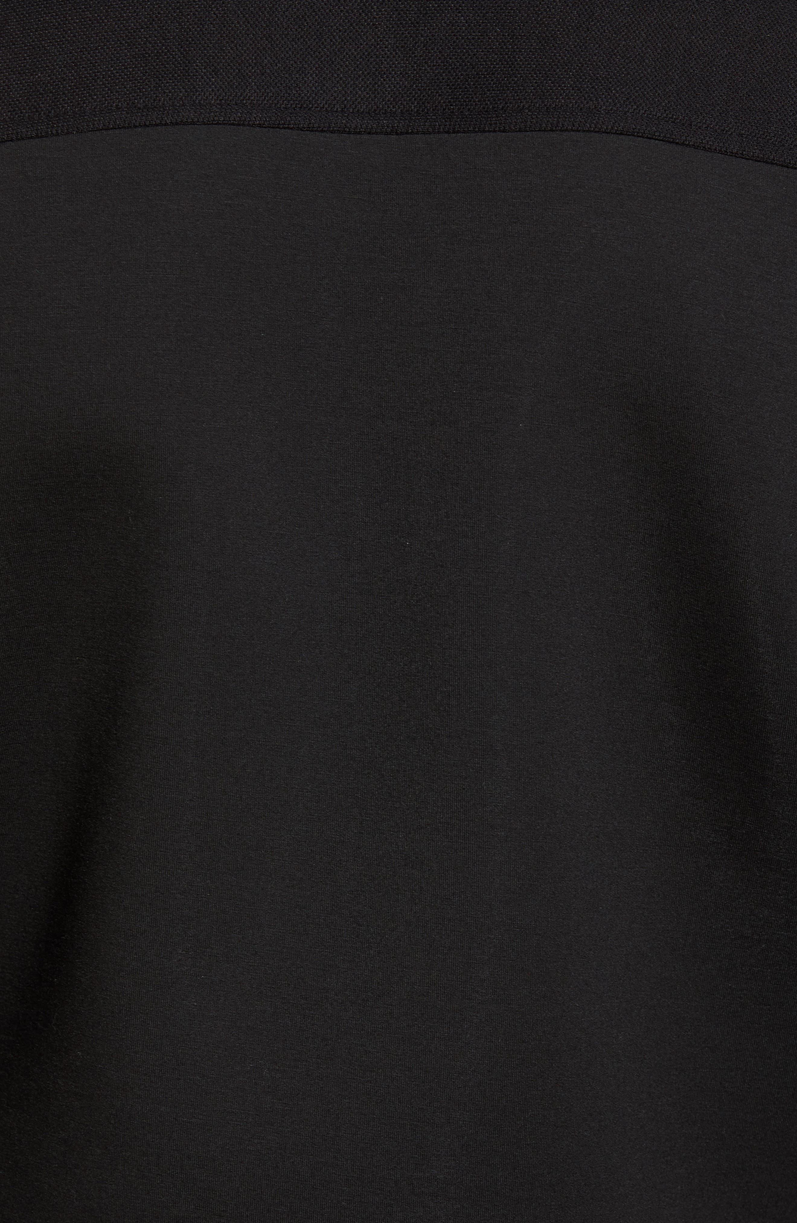 Outme Trim Textured Bomber,                             Alternate thumbnail 5, color,                             Black