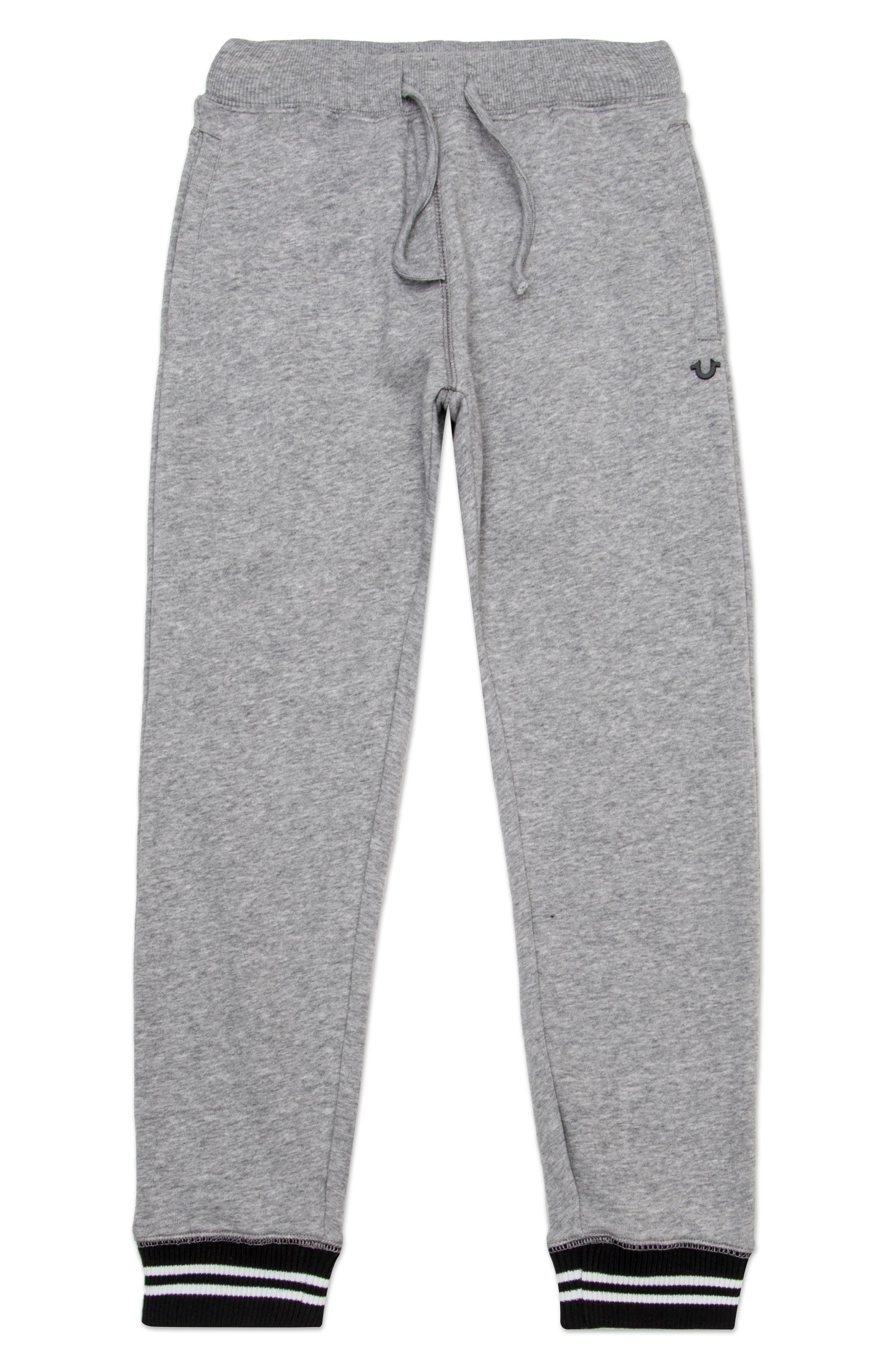 Tipped Sweatpants,                             Main thumbnail 1, color,                             Heather Grey