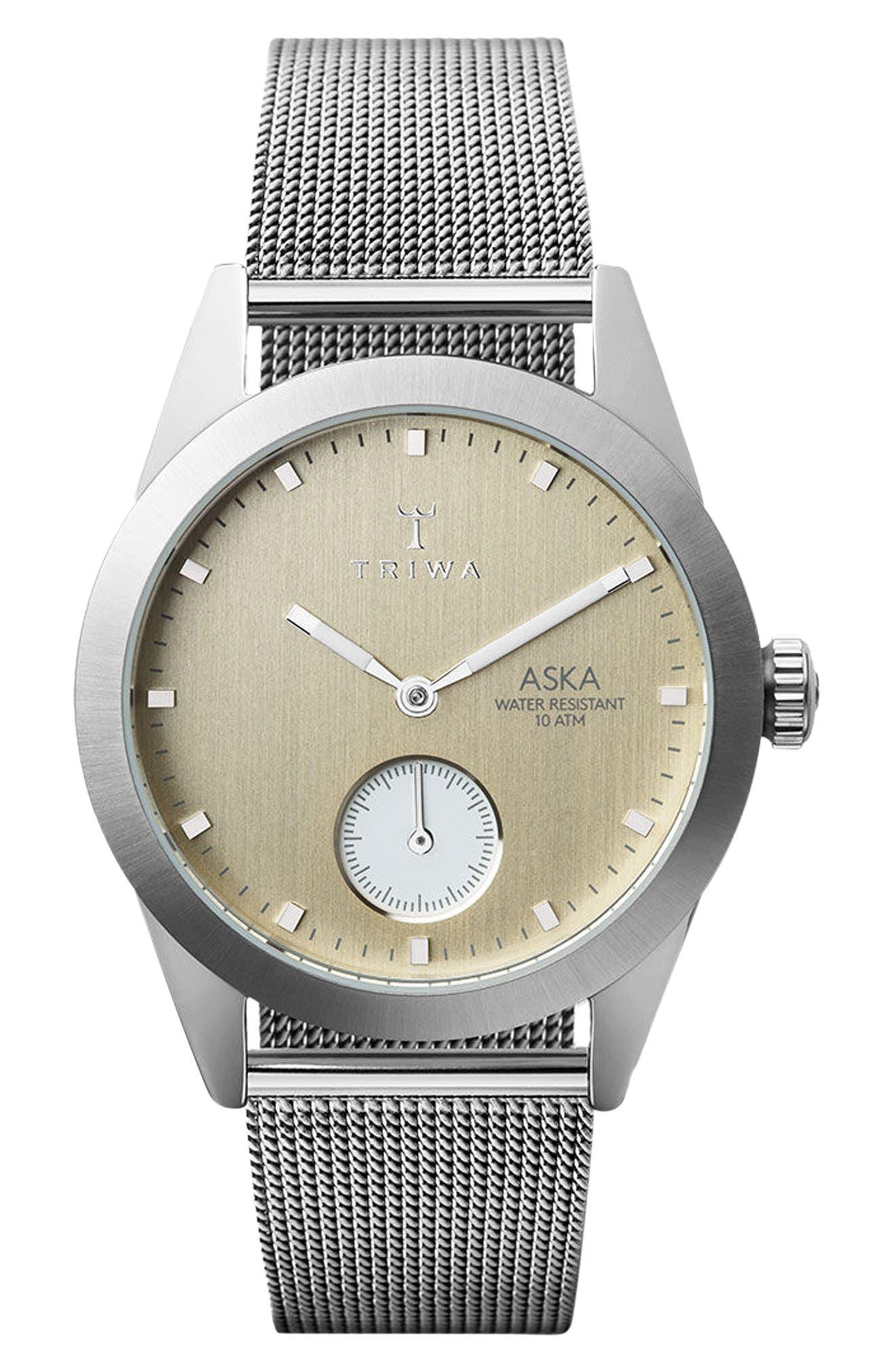 Alternate Image 1 Selected - TRIWA Aska Super Slim Mesh Strap Watch, 32mm