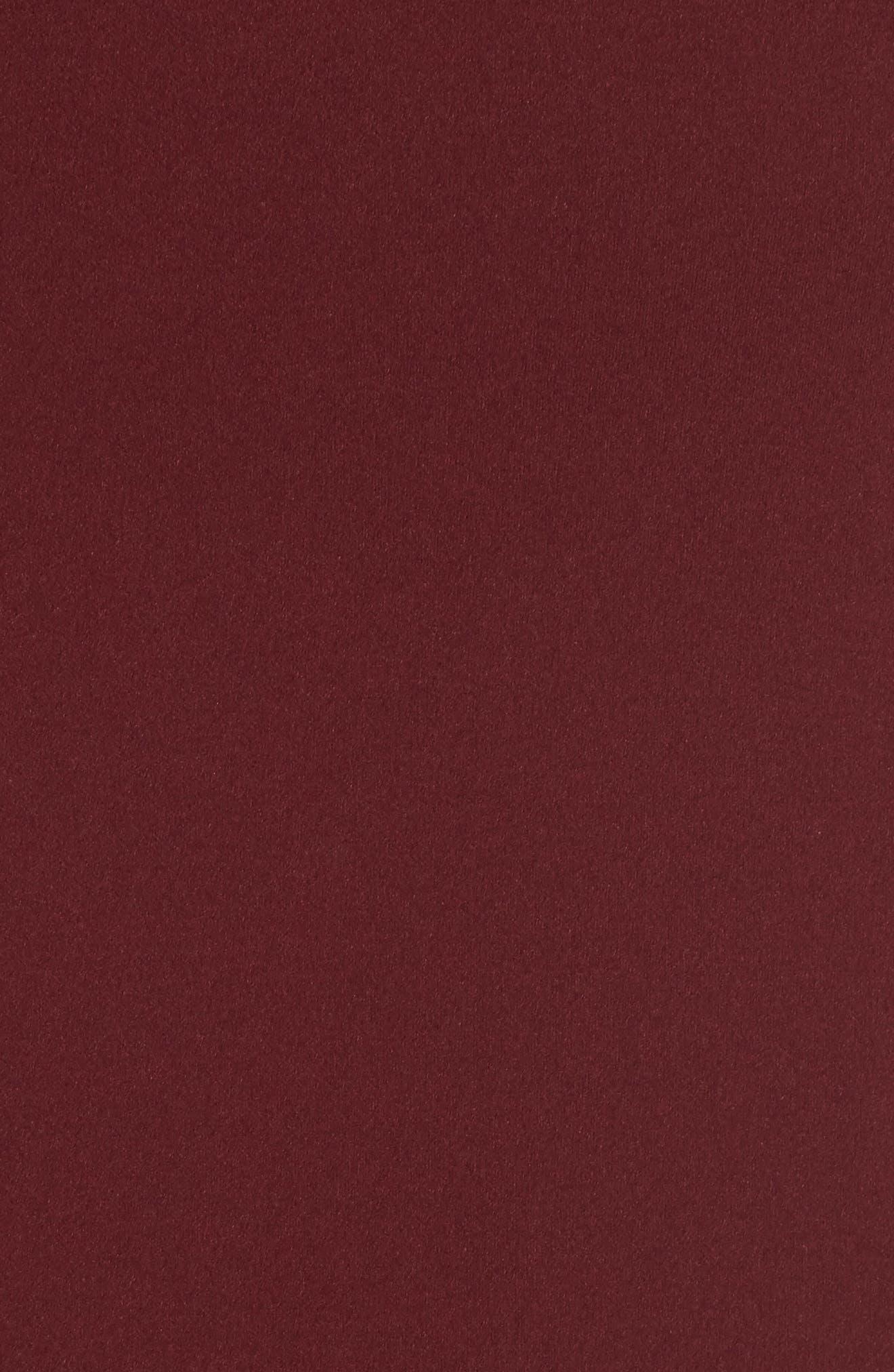 Cleo Back Cutout Trumpet Gown,                             Alternate thumbnail 6, color,                             Bordeaux