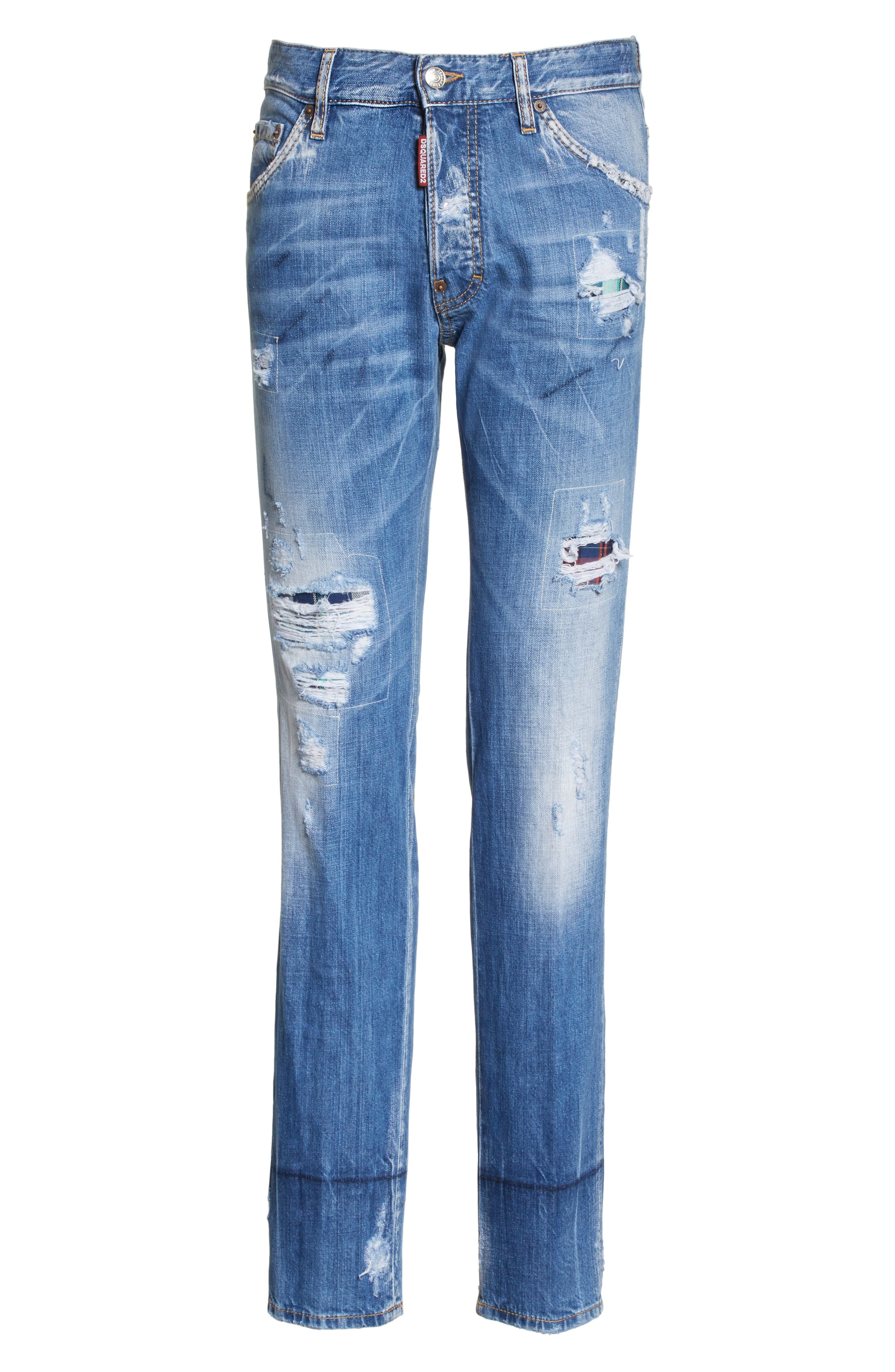 Cool Guy Skinny Fit Jeans,                             Alternate thumbnail 6, color,                             Navy/Blue