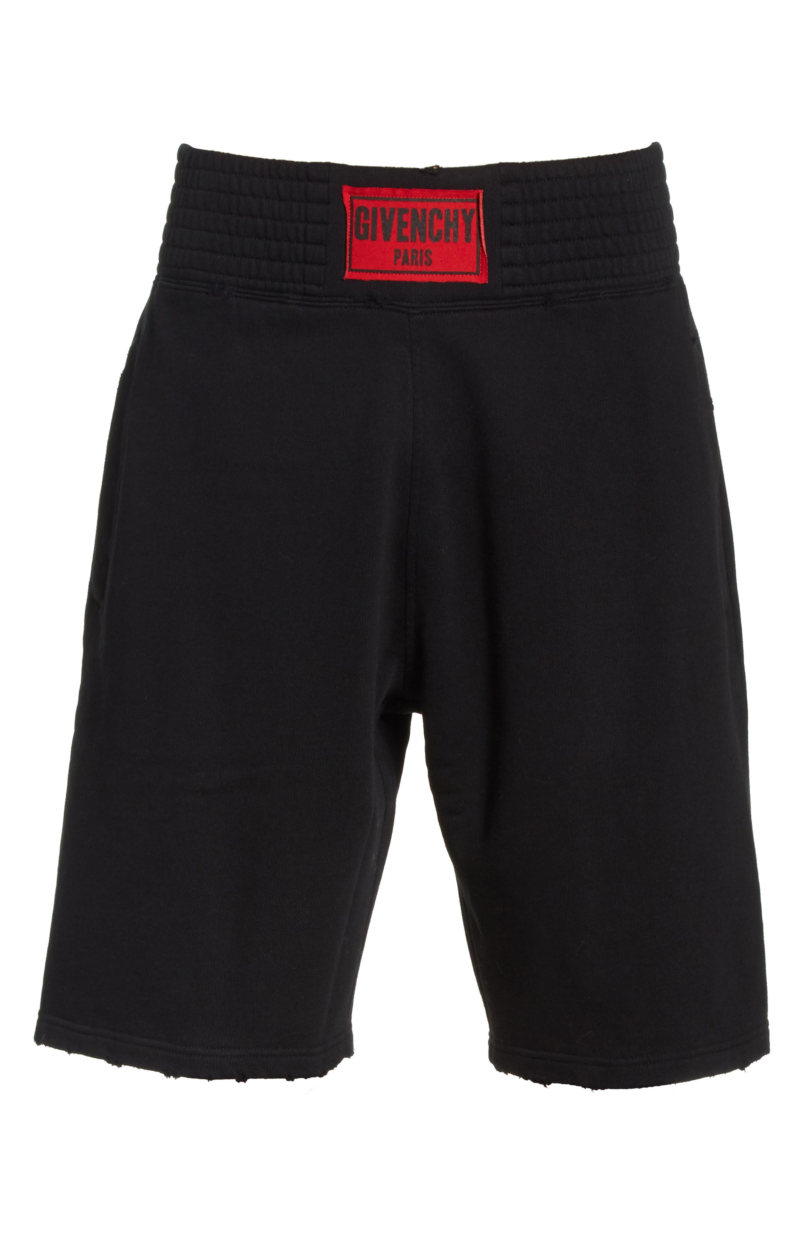Knit Boxing Shorts,                             Alternate thumbnail 6, color,                             Black