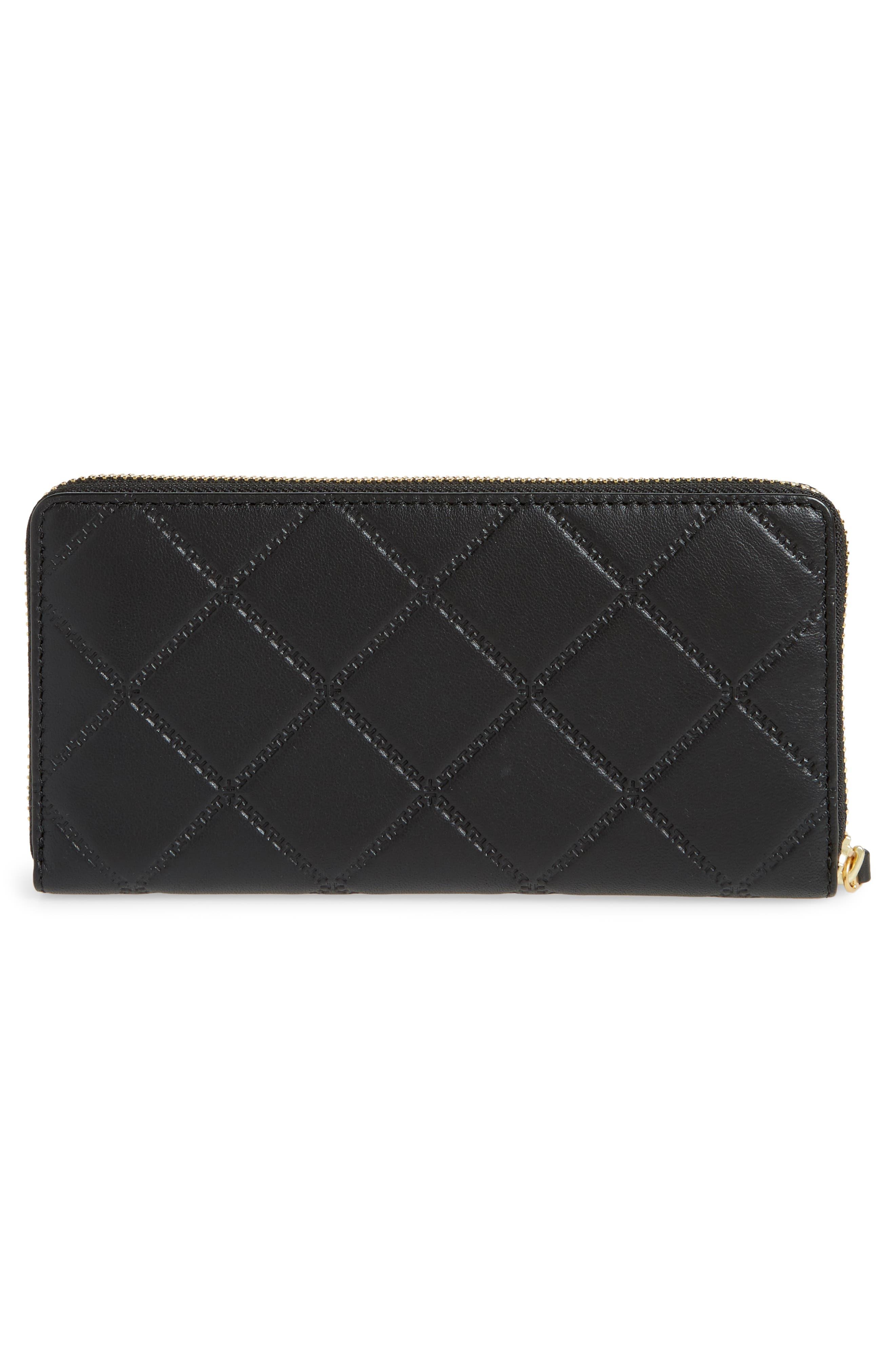 Georgia Zip Continental Wallet,                             Alternate thumbnail 4, color,                             Black