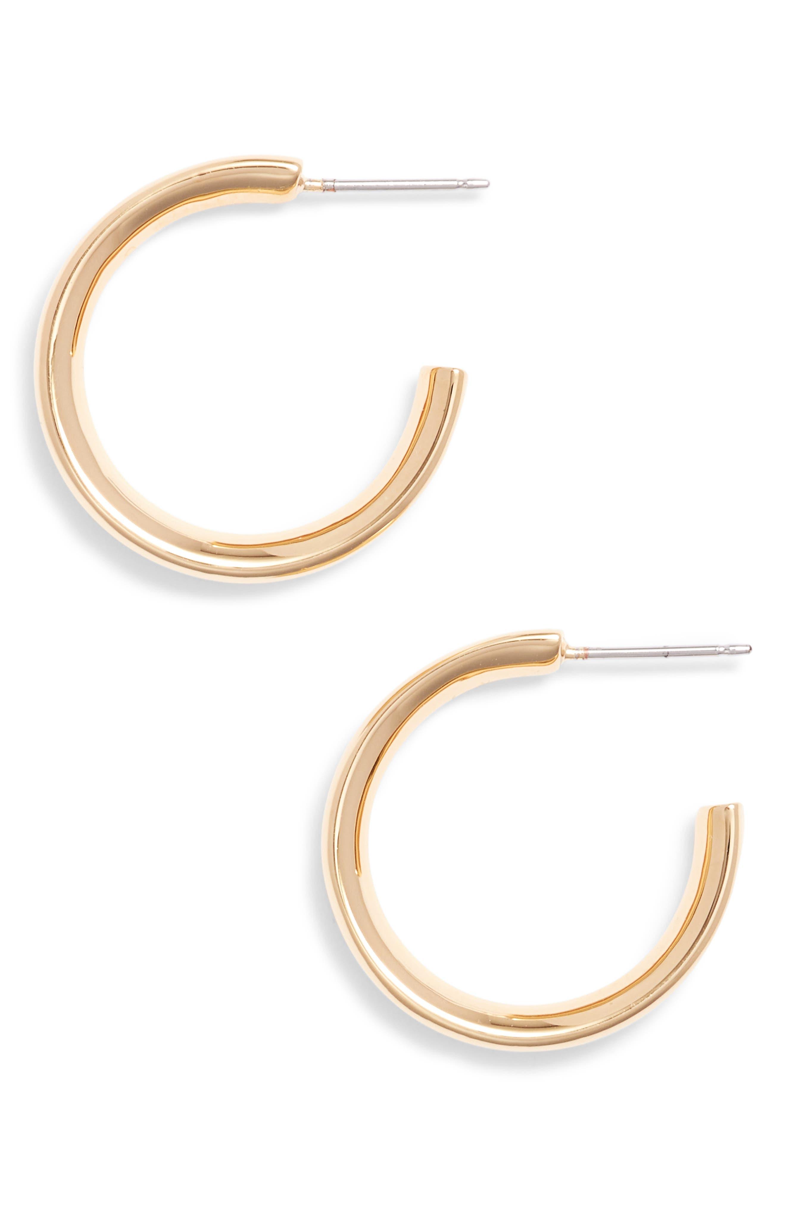Alternate Image 1 Selected - Stella Valle Heart Shaped Hoop Earrings