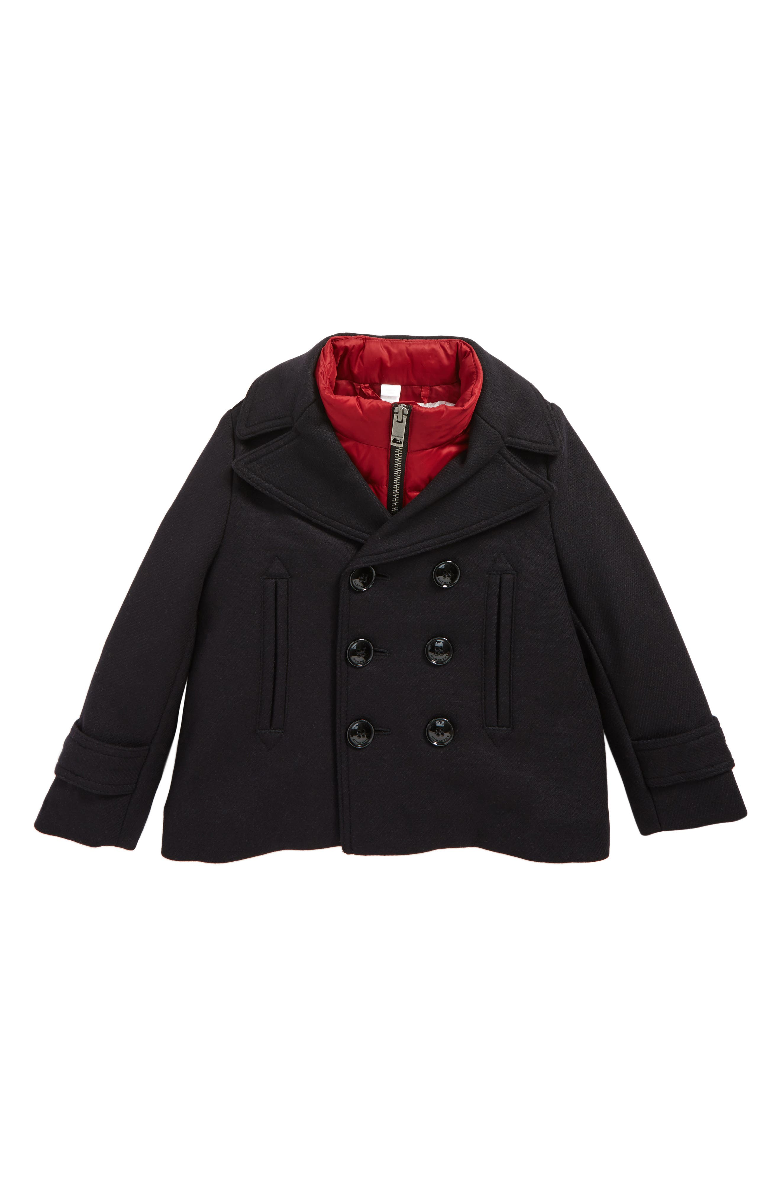 Burberry Pat 2-in-1 Vest & Peacoat (Little Girls & Big Girls)