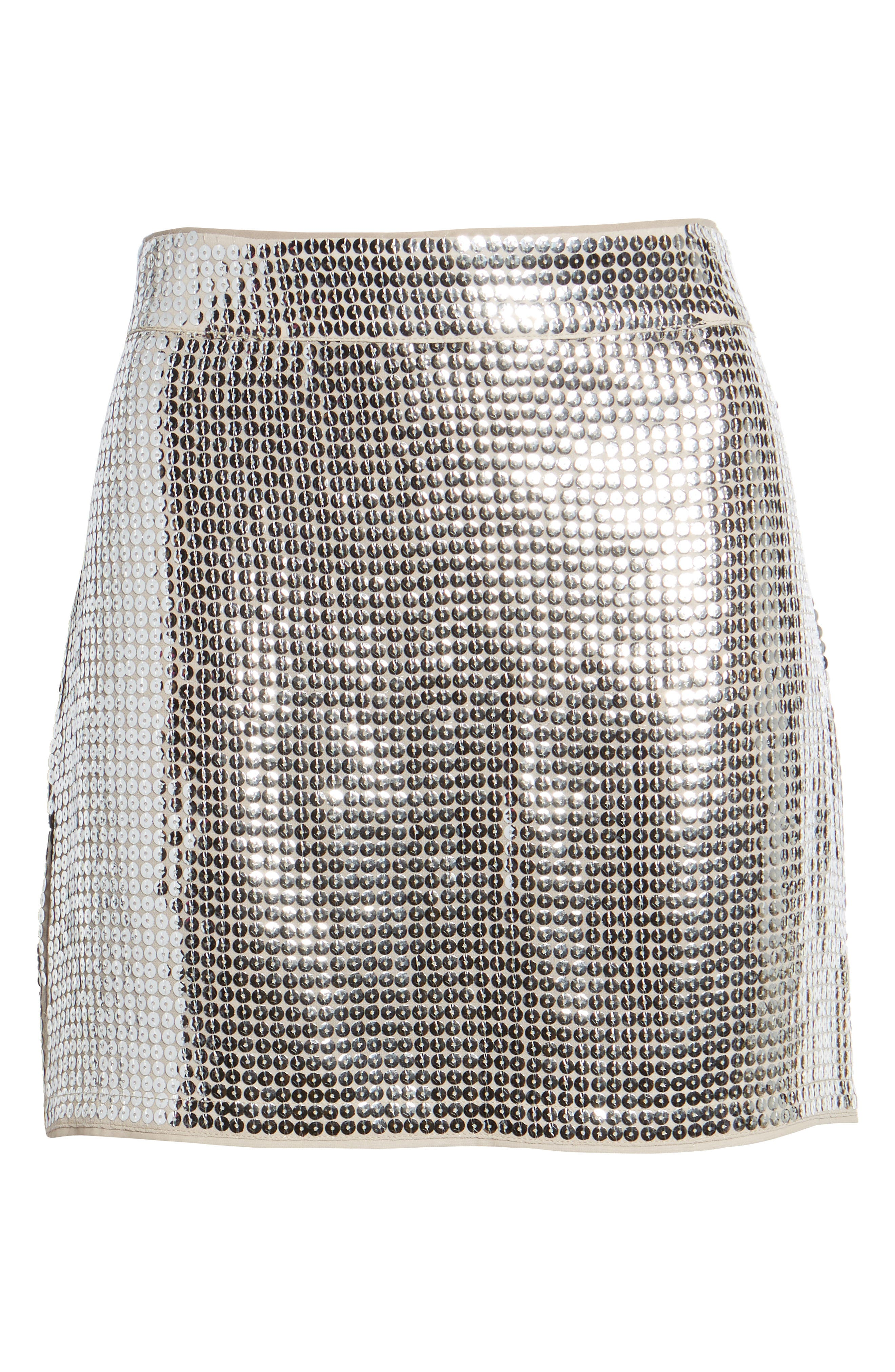Always This Late Skirt,                             Alternate thumbnail 6, color,                             Silver/ Nude