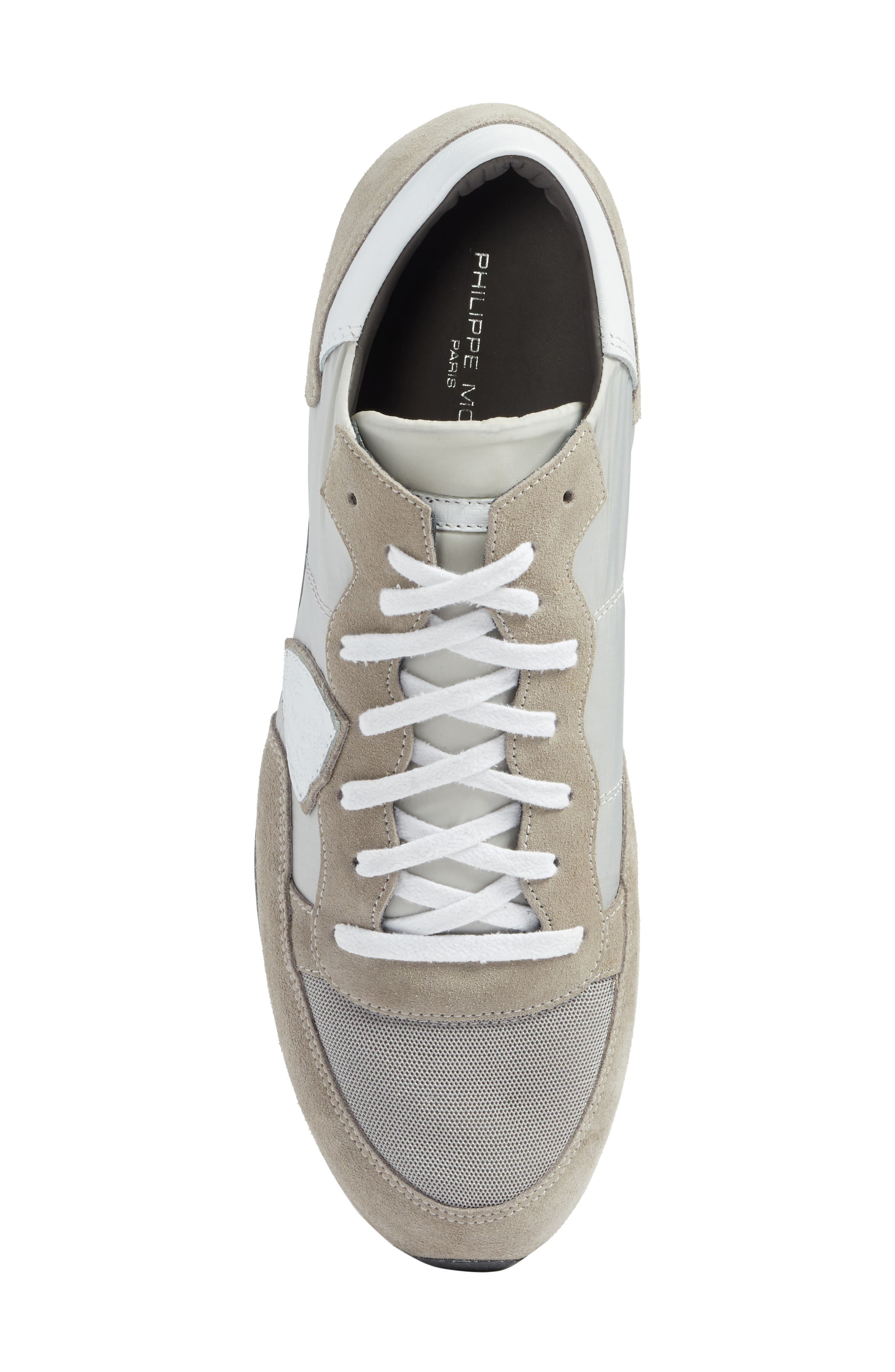 Tropez Low Top Sneaker,                             Alternate thumbnail 5, color,                             Grey/ White