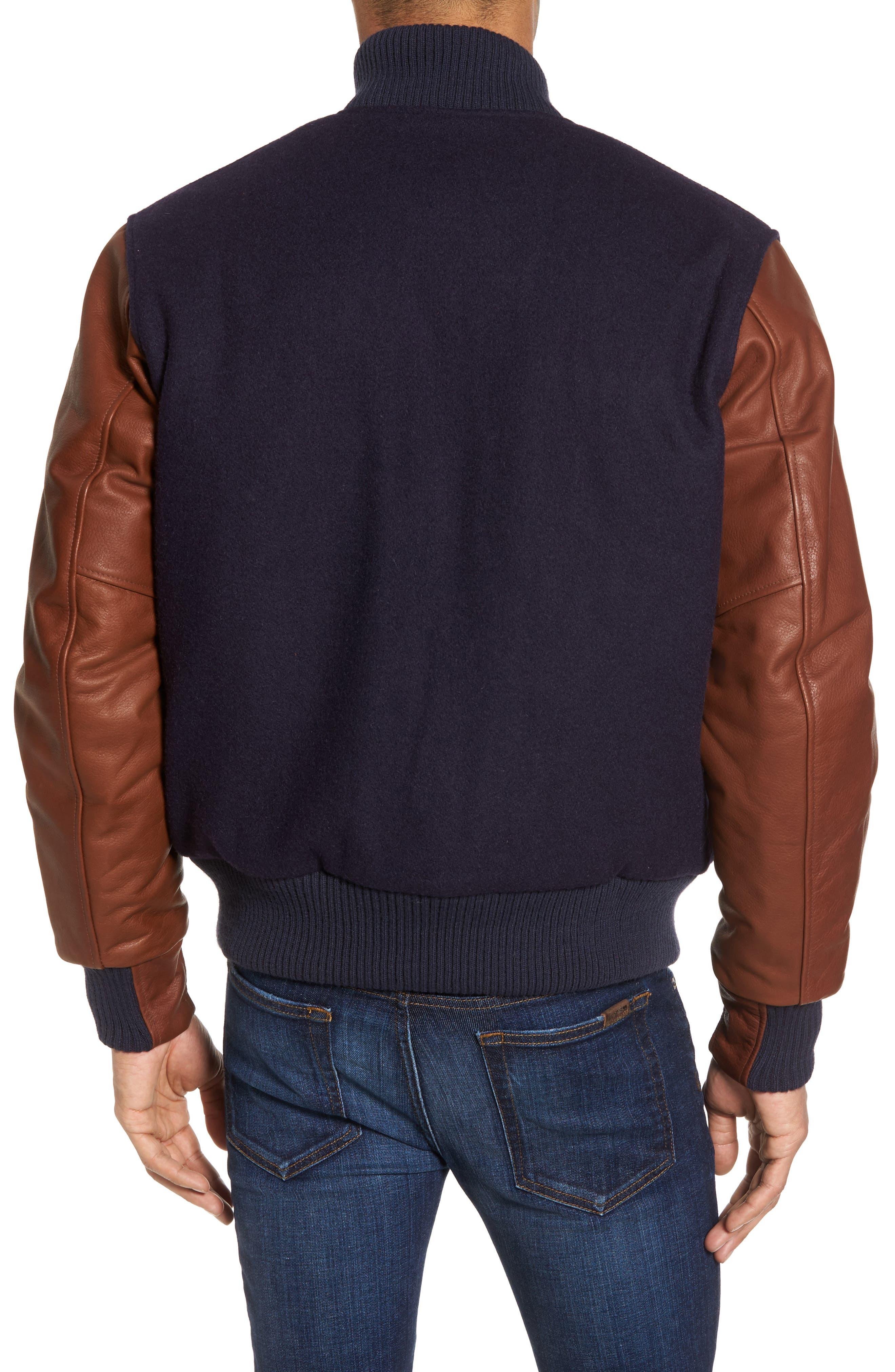 Classic Varsity Jacket,                             Alternate thumbnail 2, color,                             Navy