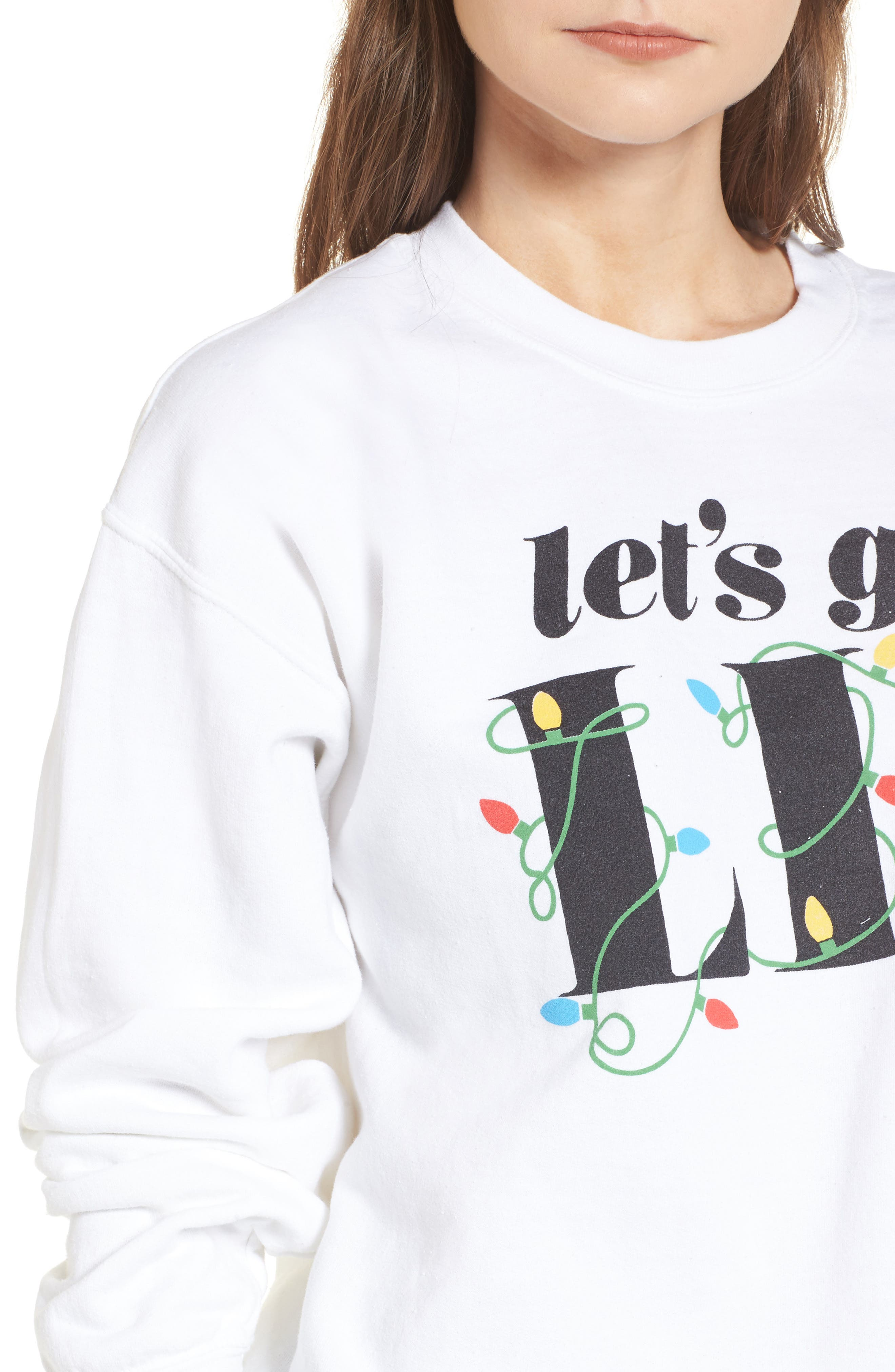 Let's Get Lit Sweatshirt,                             Alternate thumbnail 4, color,                             White