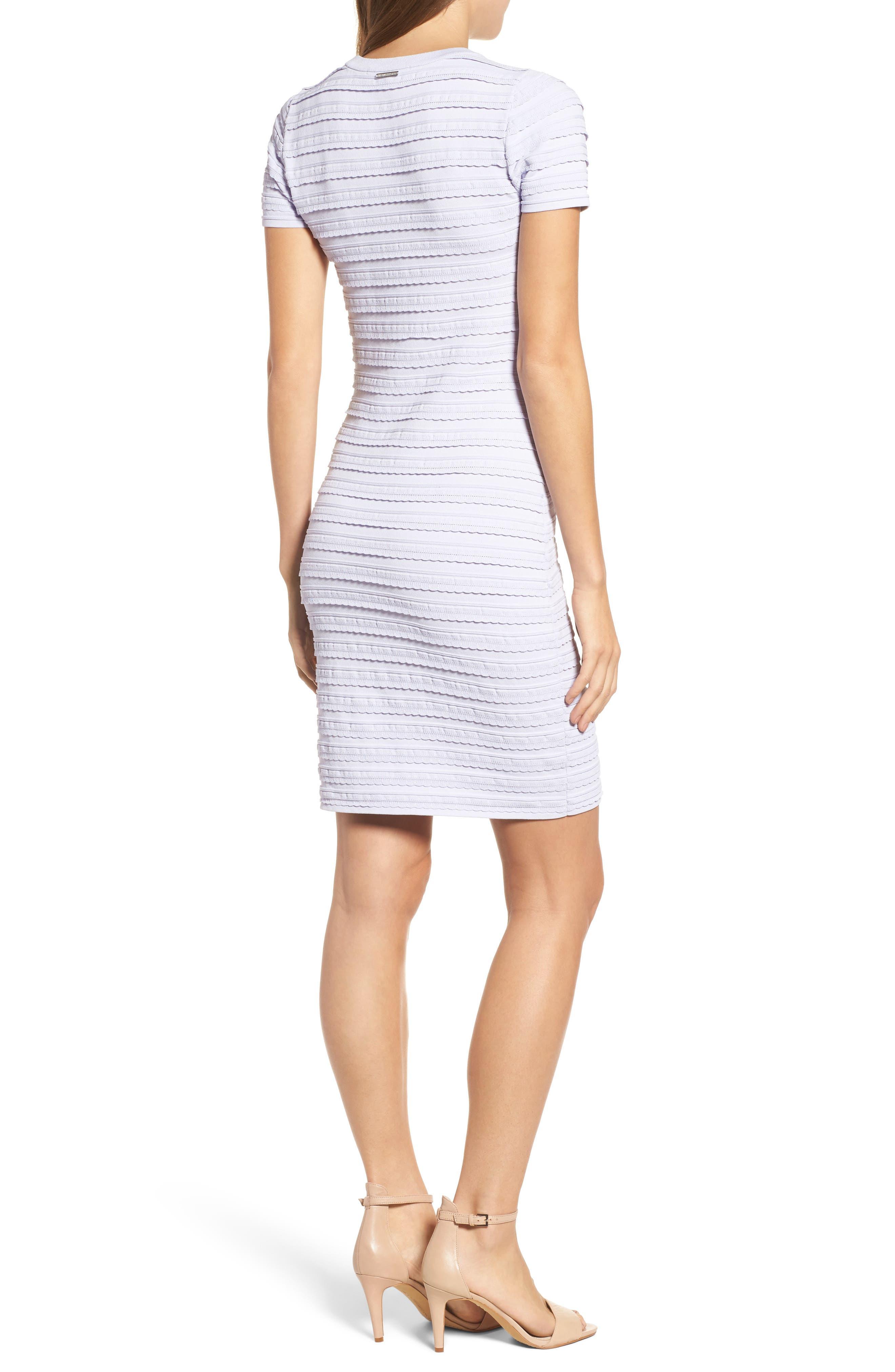 Tiered Sheath Dress,                             Alternate thumbnail 2, color,                             Light Quartz