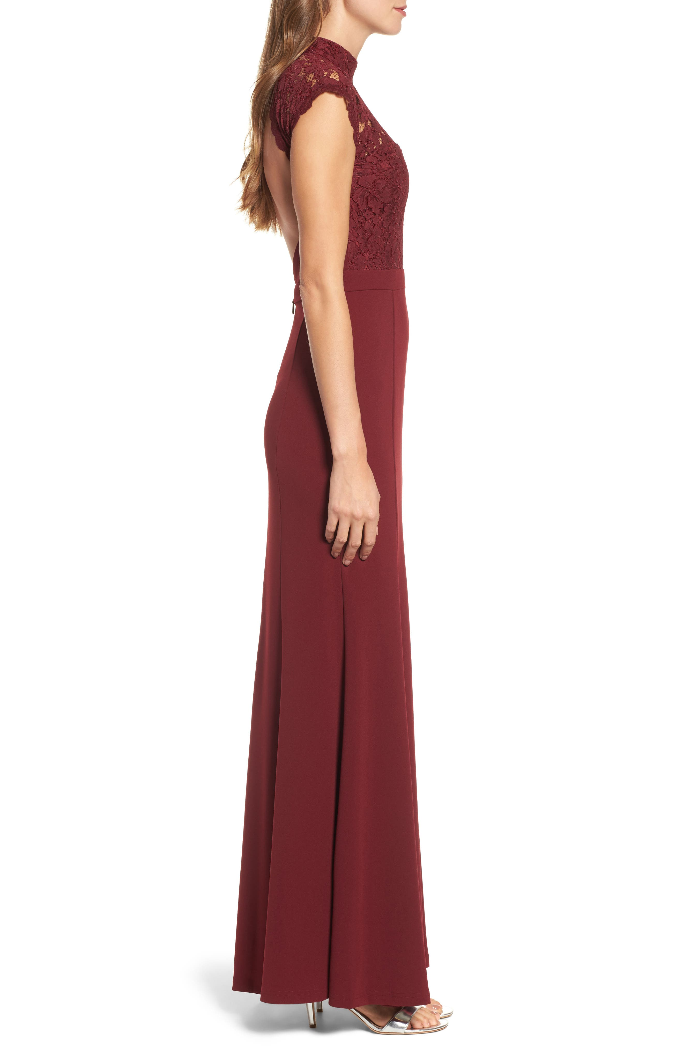 Alternate Image 4  - Lulus Lace Bodice Mermaid Gown