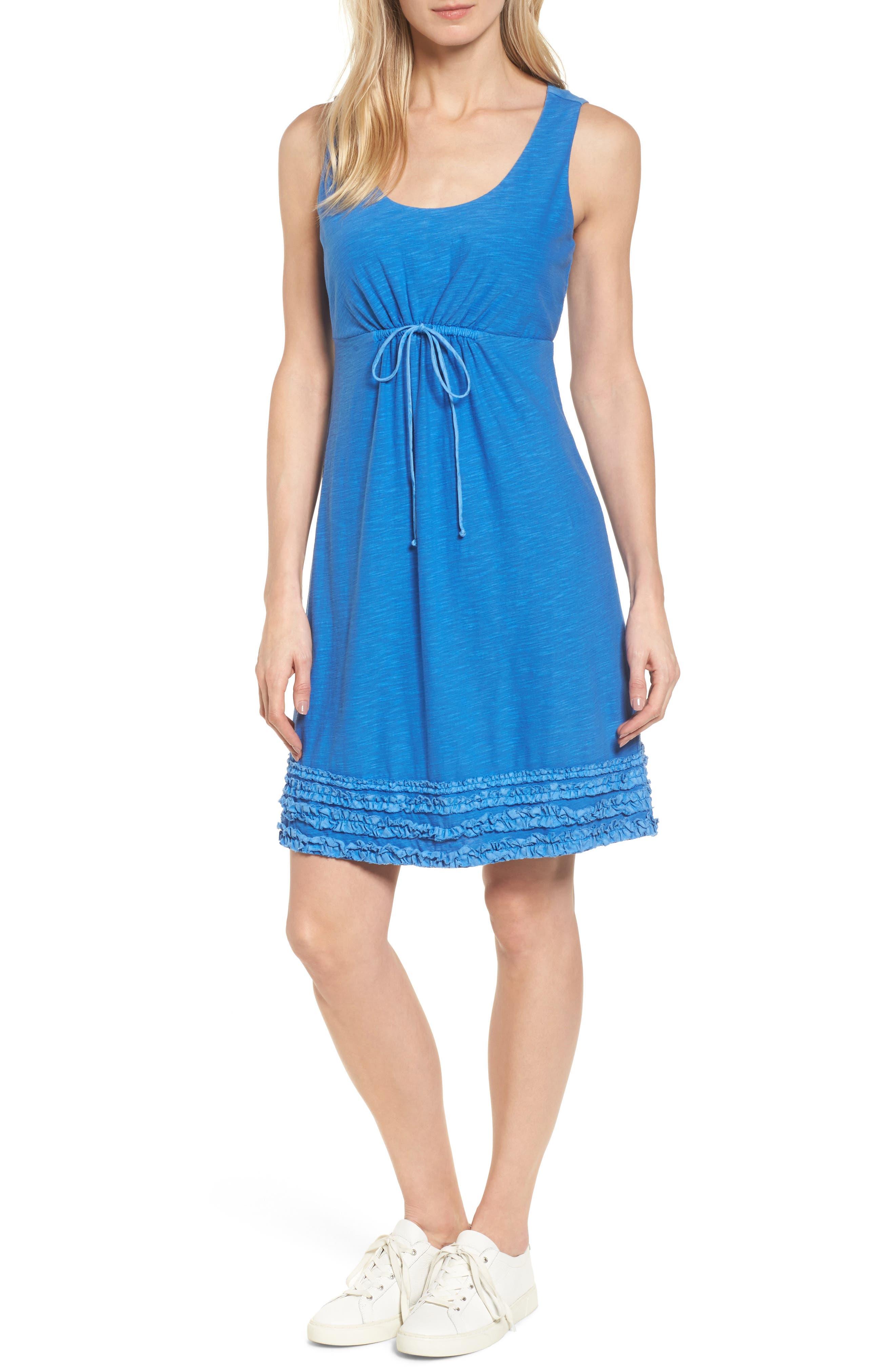 Arden Ruffle Hem Dress,                         Main,                         color, Cobalt