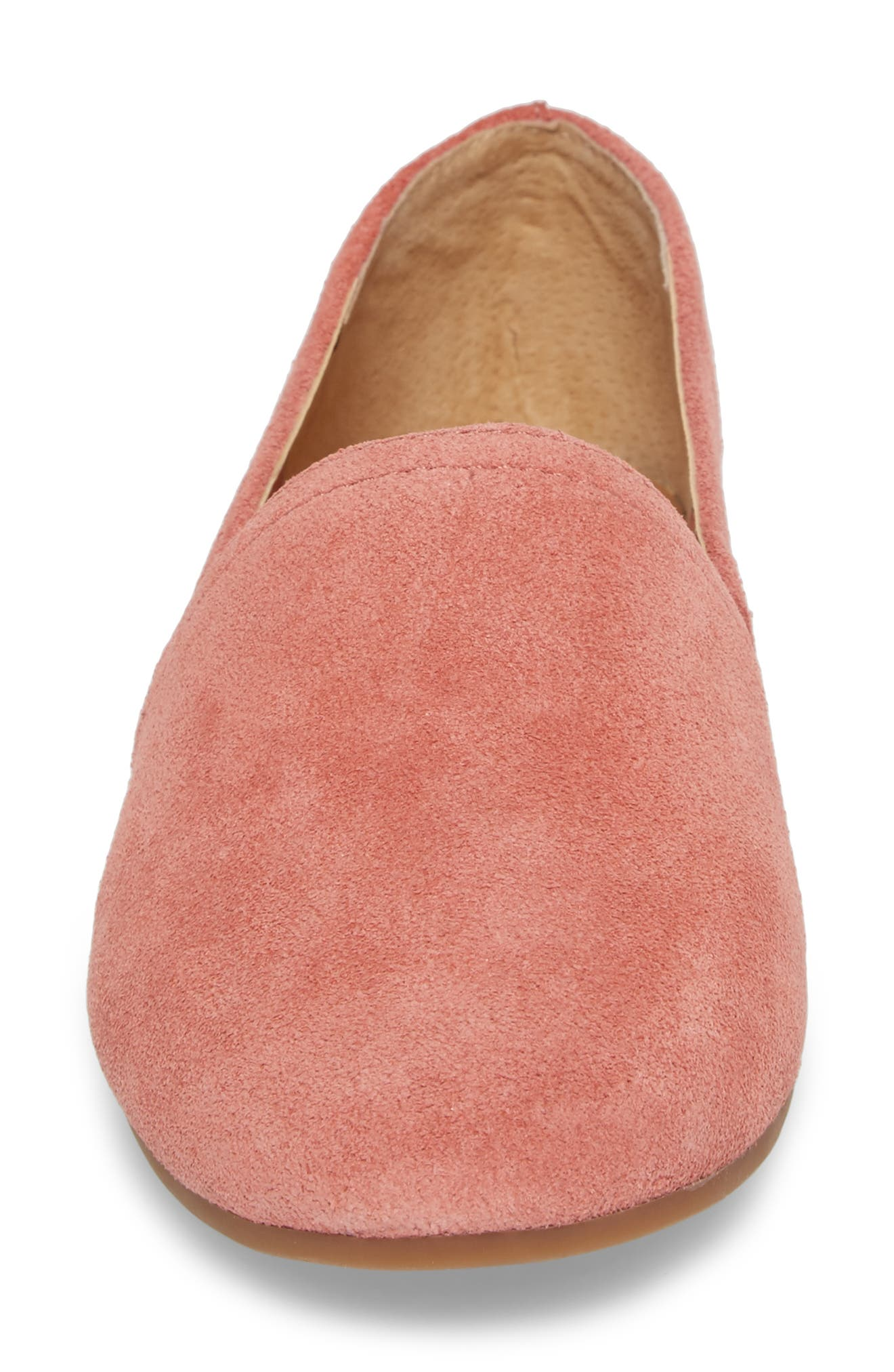 Brettany Loafer,                             Alternate thumbnail 4, color,                             Canyon Rose Suede
