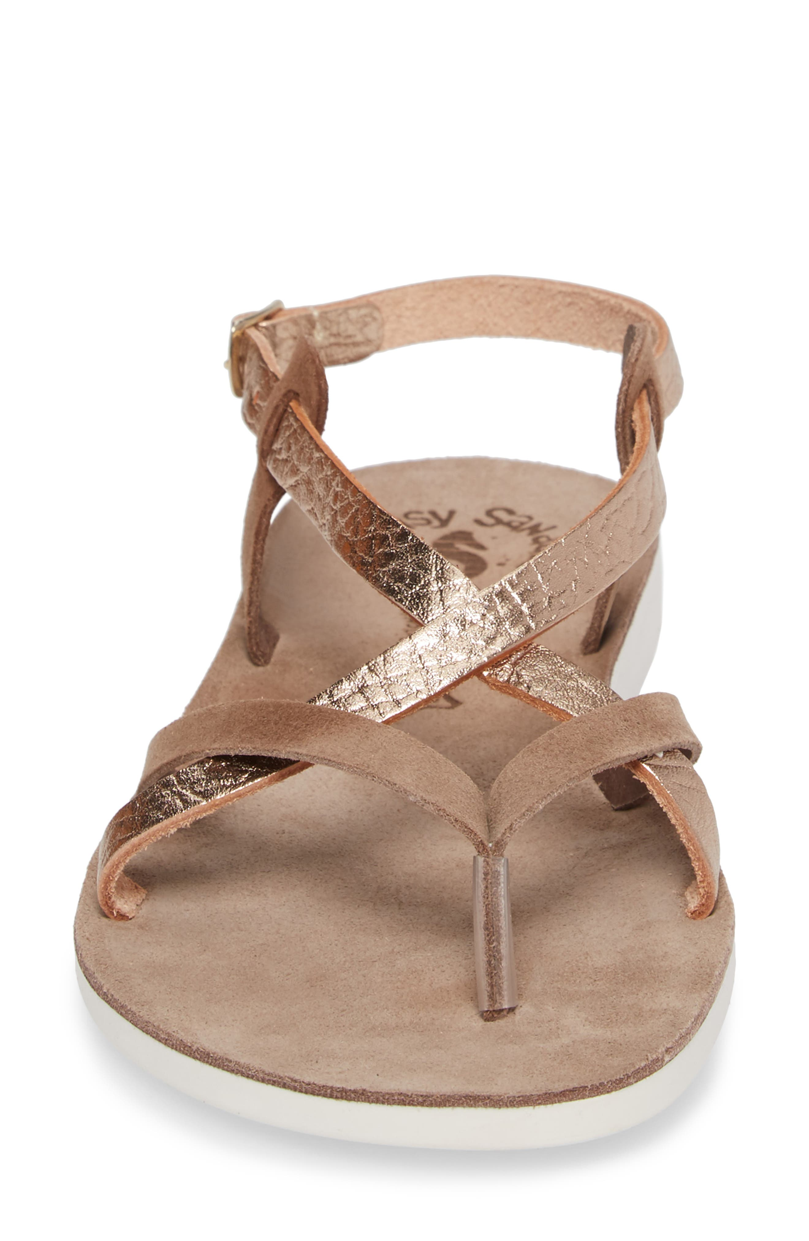 Anelia Fantasy Sandal,                             Alternate thumbnail 4, color,                             Coffee Volcano Leather