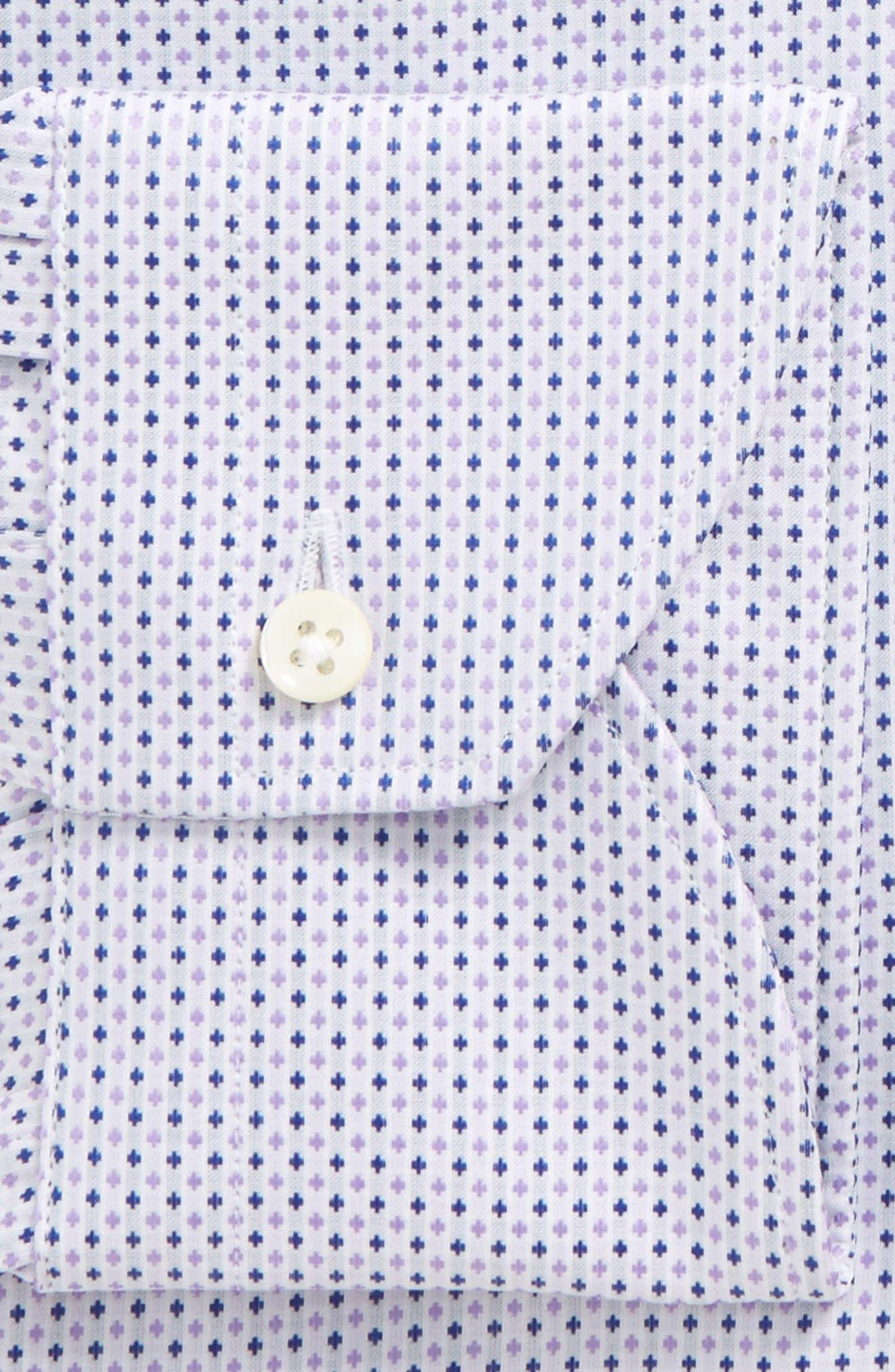 Regular Fit Geometric Dress Shirt,                             Alternate thumbnail 2, color,                             Light Purple