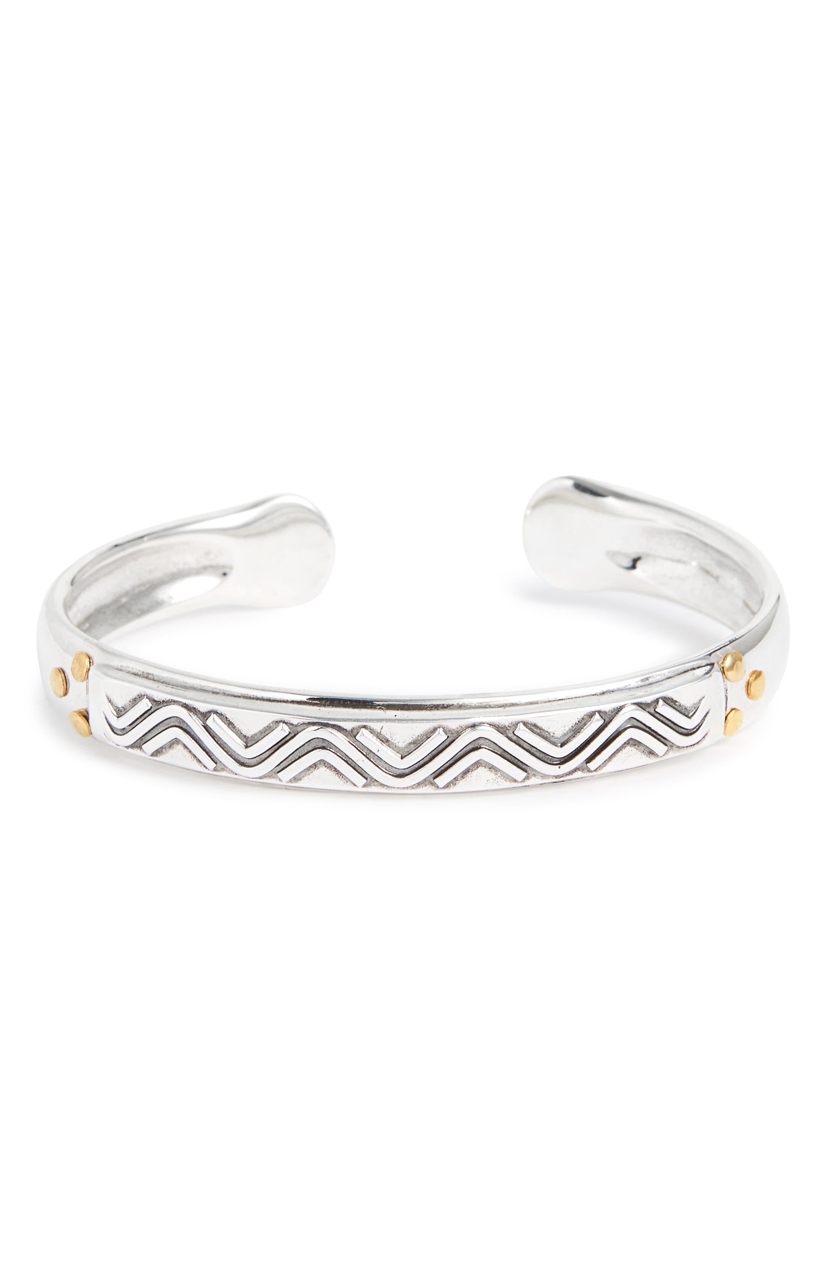 Matis Cuff Bracelet,                             Main thumbnail 1, color,                             Silver