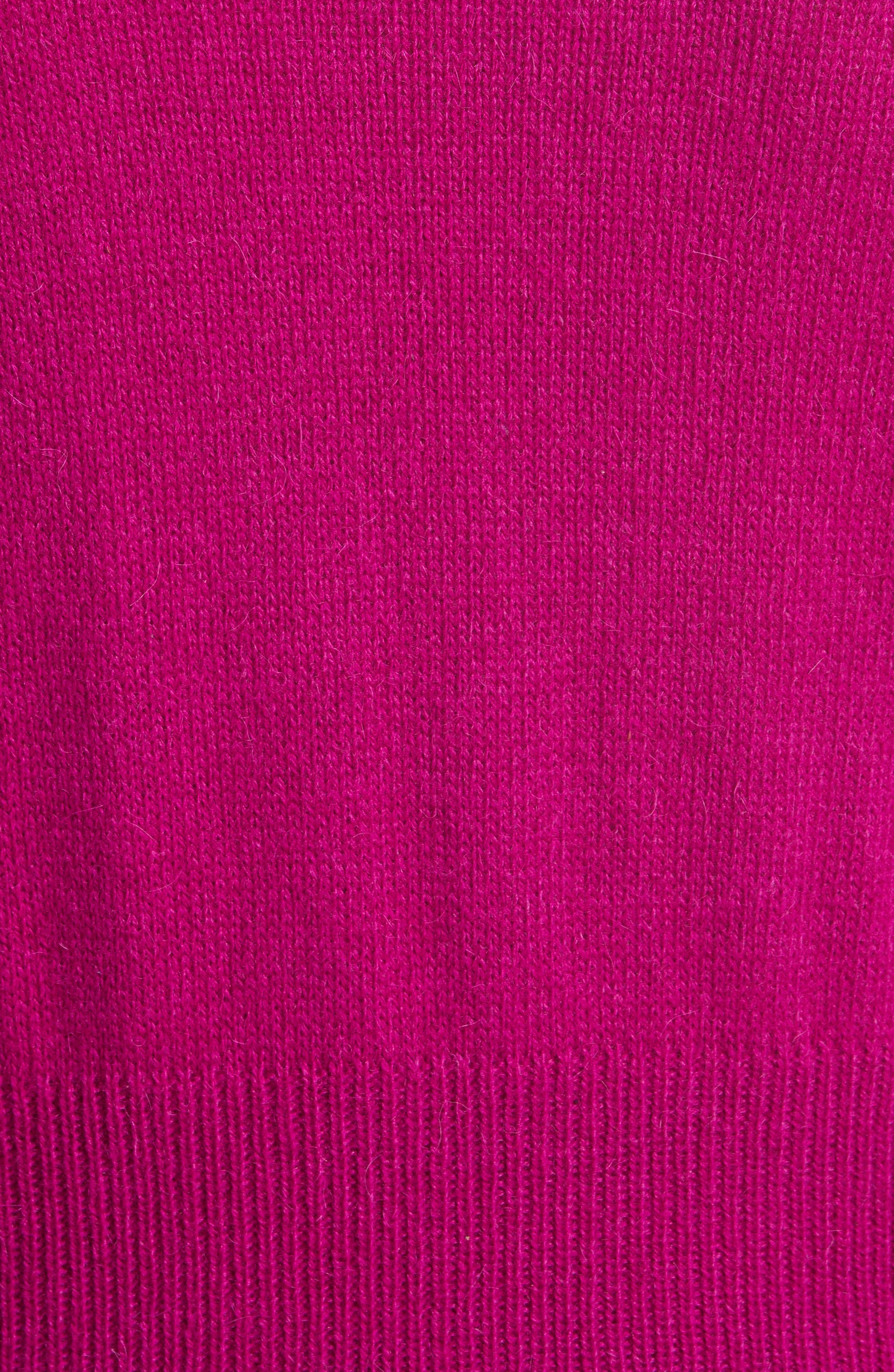 Flare Cuff Alpaca Blend Sweater,                             Alternate thumbnail 6, color,                             Magenta