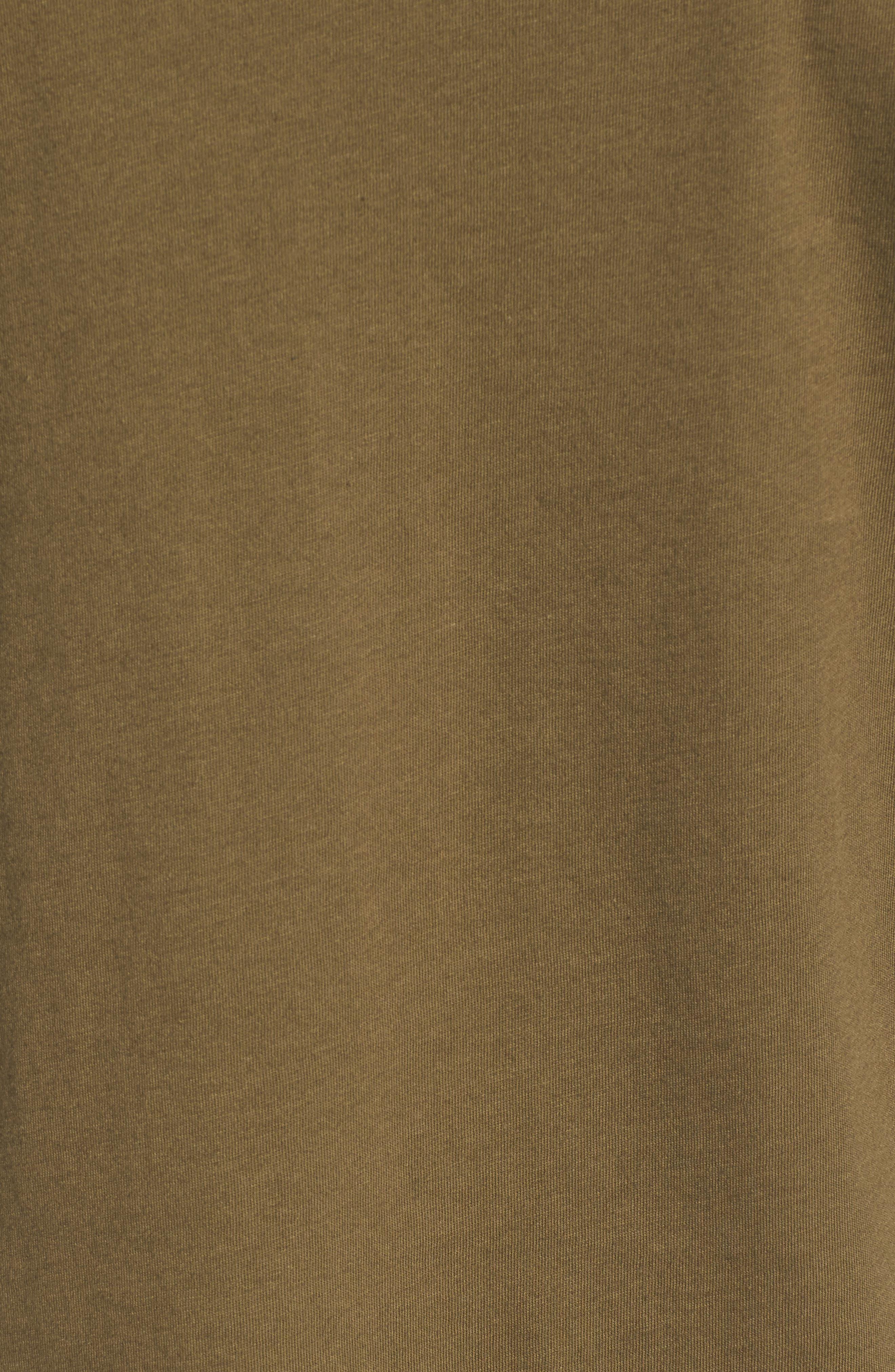 Long Sleeve V Neck Pocket Tee,                             Alternate thumbnail 5, color,                             Olive