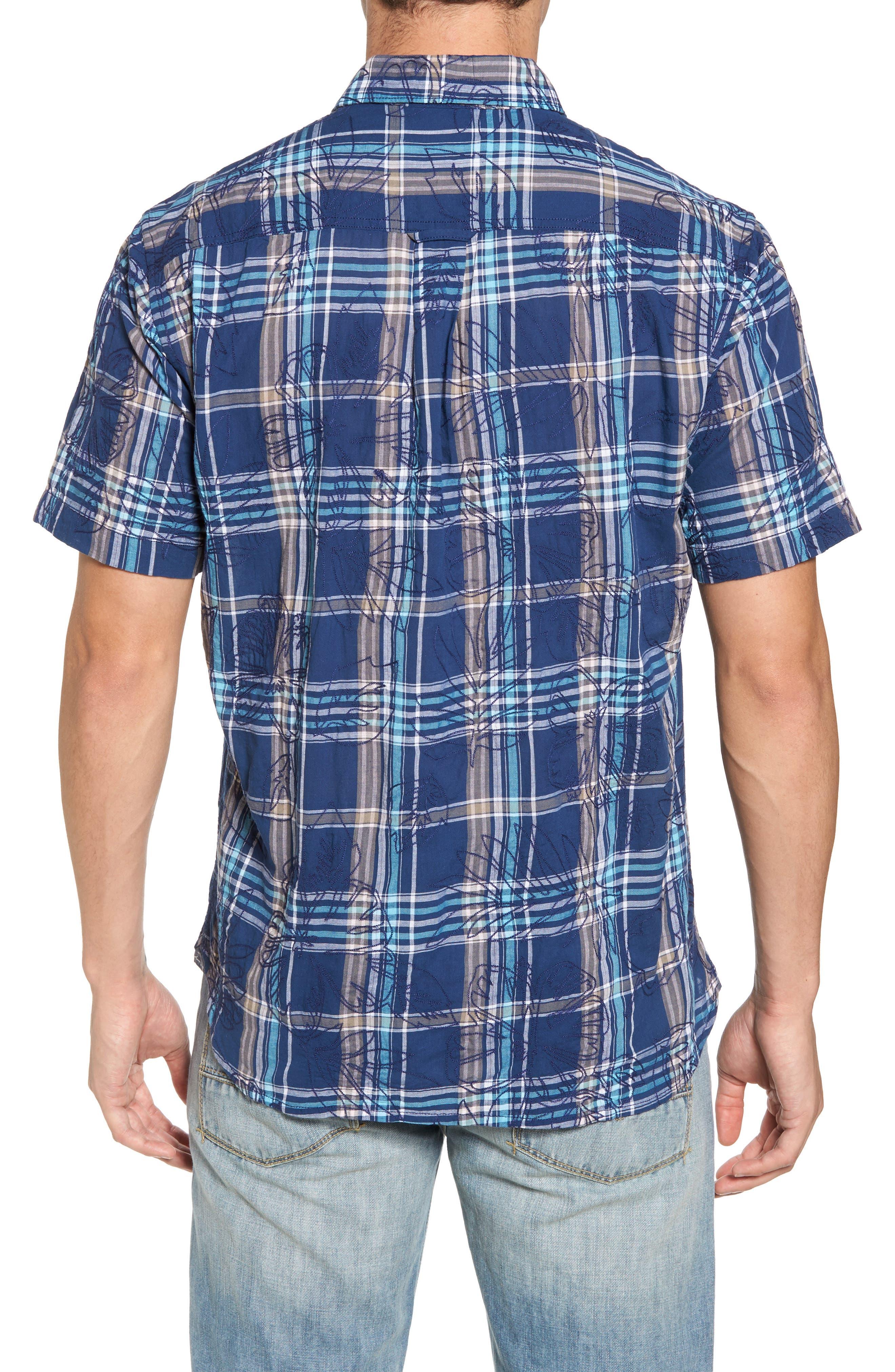 Pallazo Plaid Sport Shirt,                             Alternate thumbnail 2, color,                             Dockside Blue